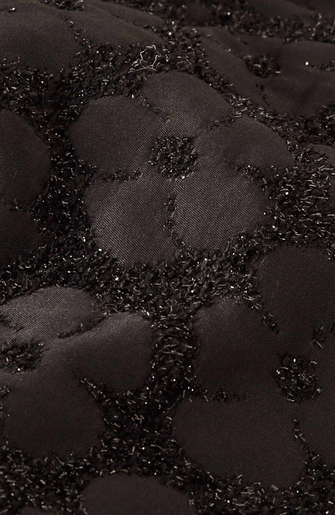 Alternate Image 4  - Topshop Textured Floral Shorts