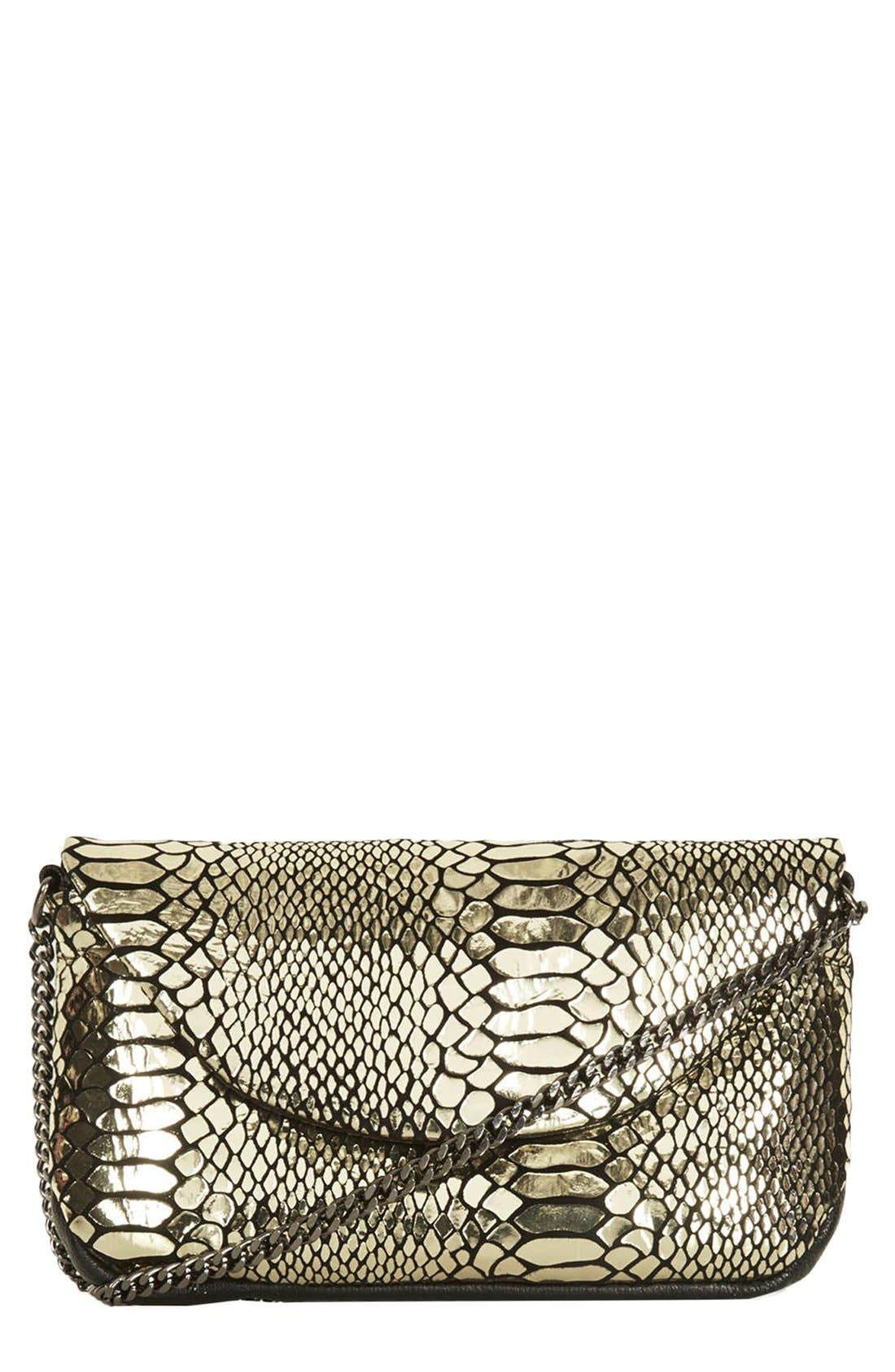 Alternate Image 1 Selected - Topshop Leather Crossbody Bag