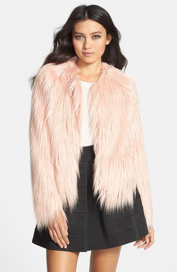 Mural Pink Faux Fur Coat | Nordstrom