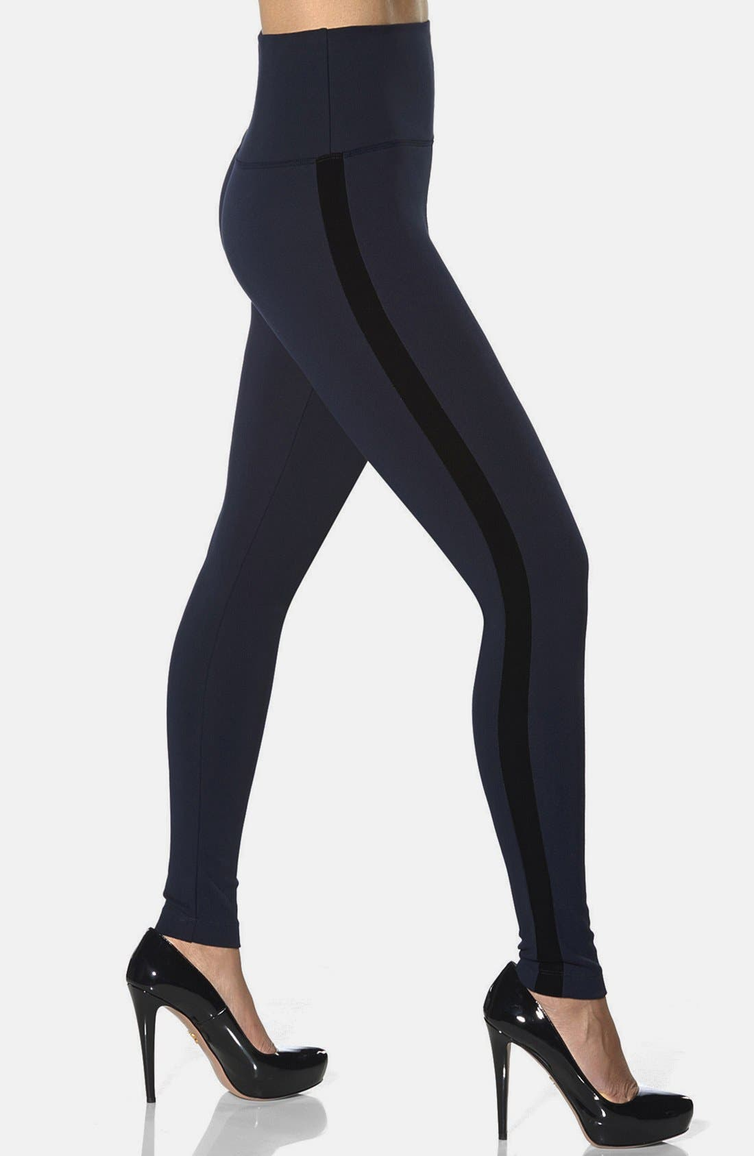 Alternate Image 1 Selected - Lyssé Velvet Trim Control Top Leggings
