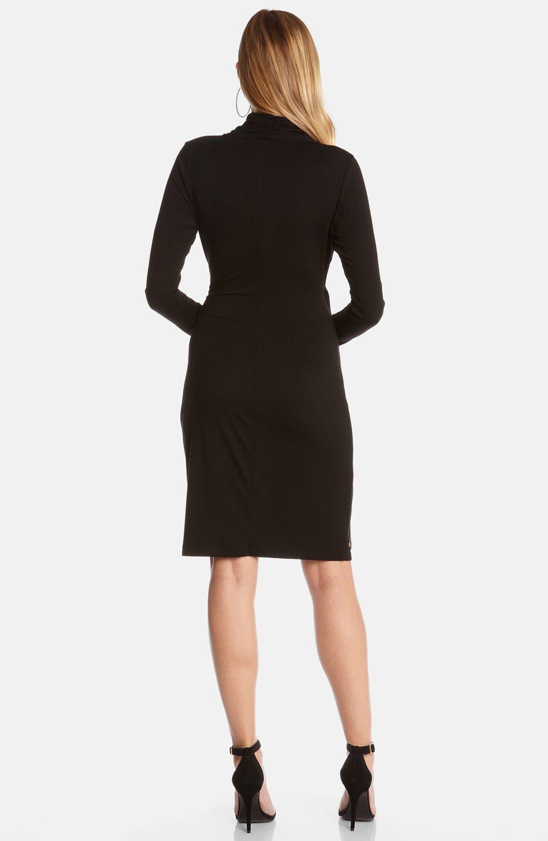 Alternate Image 3  - Karen Kane 'Royal Flush' Cascade Faux Wrap Dress