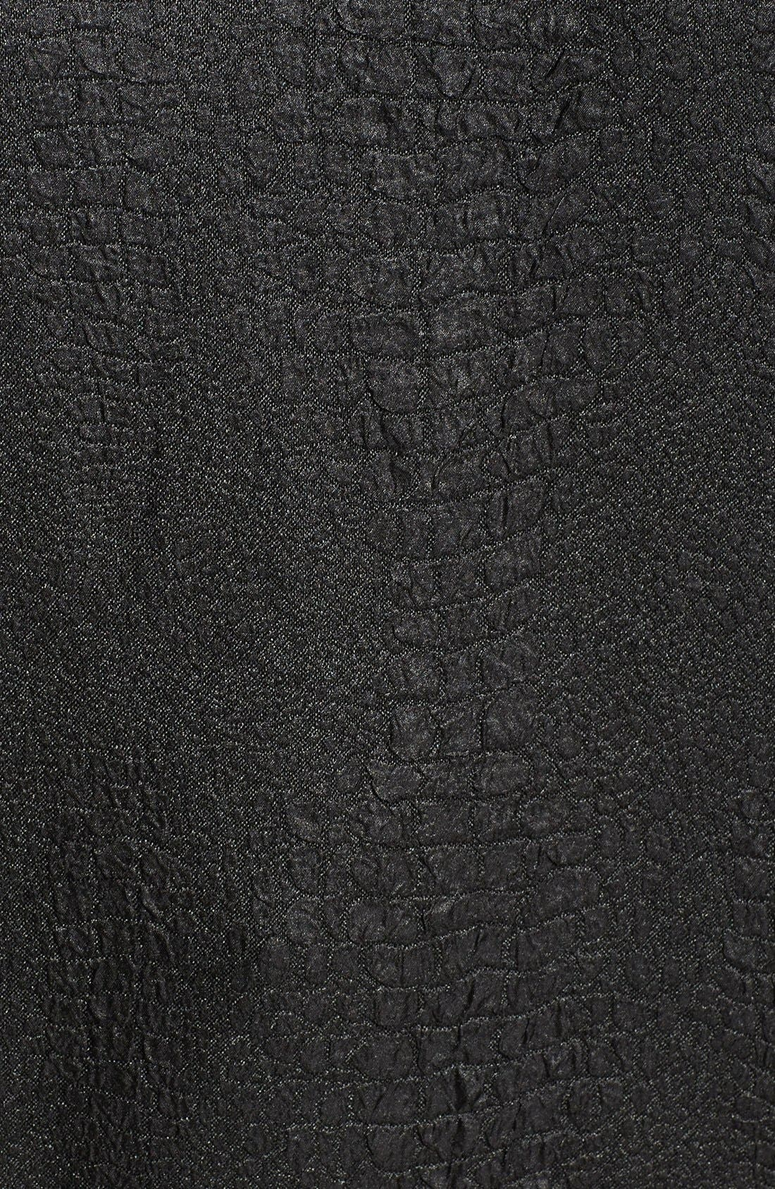Alternate Image 3  - Halogen® Embossed Sweatshirt (Plus Size)
