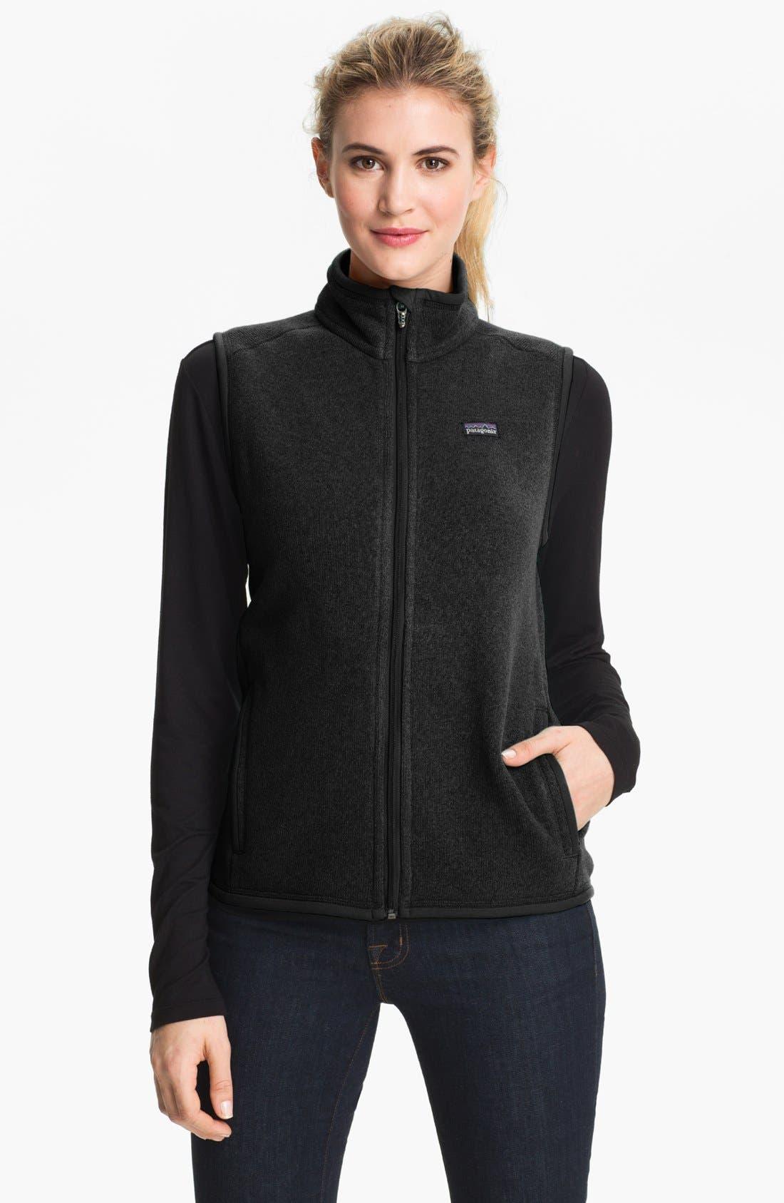 'Better Sweater' Vest,                             Main thumbnail 1, color,                             Black