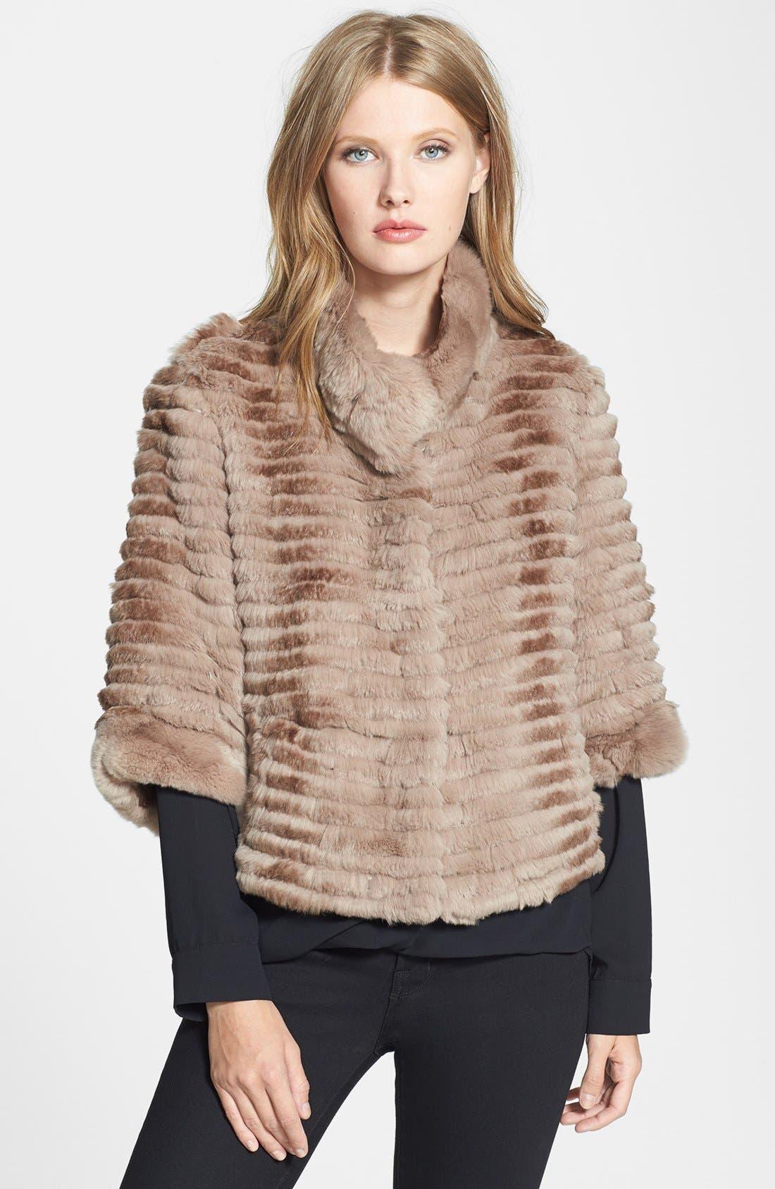 Main Image - Dena Home Genuine Rabbit Fur Jacket