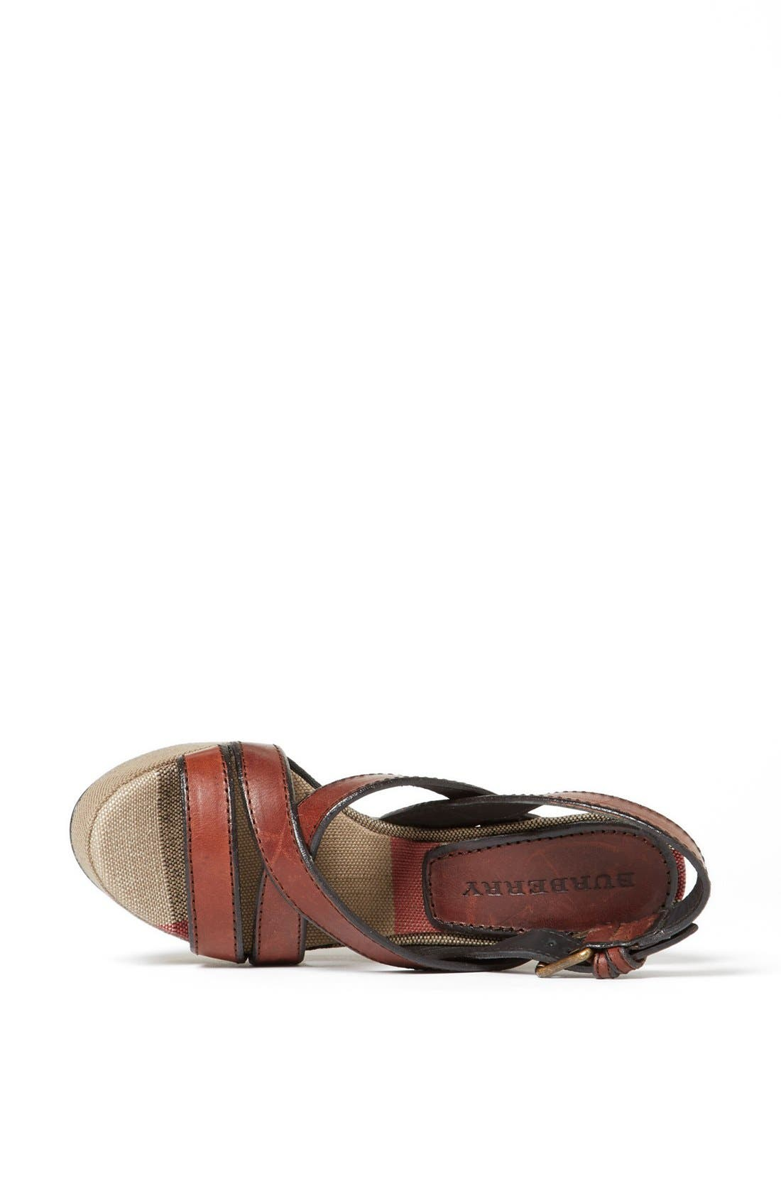Alternate Image 4  - Burberry 'Warlow' Leather Sandal