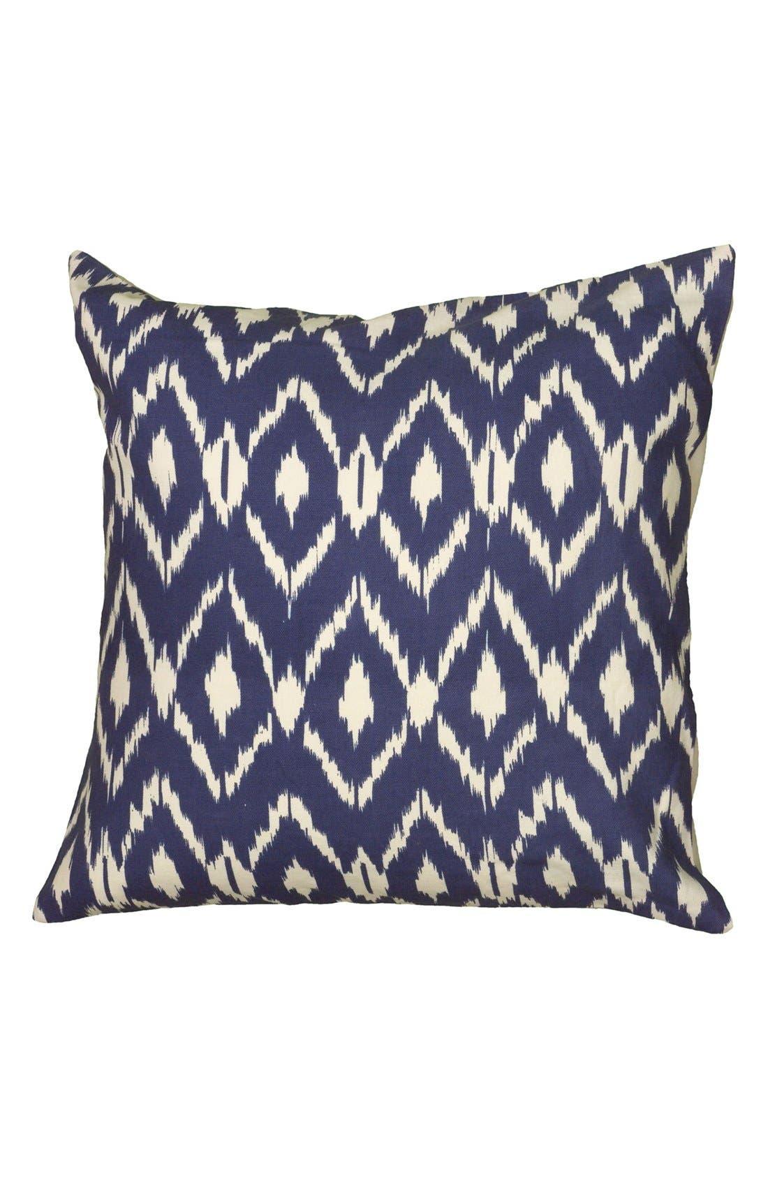 Ikat Pillow,                             Main thumbnail 1, color,                             Navy/ Blue