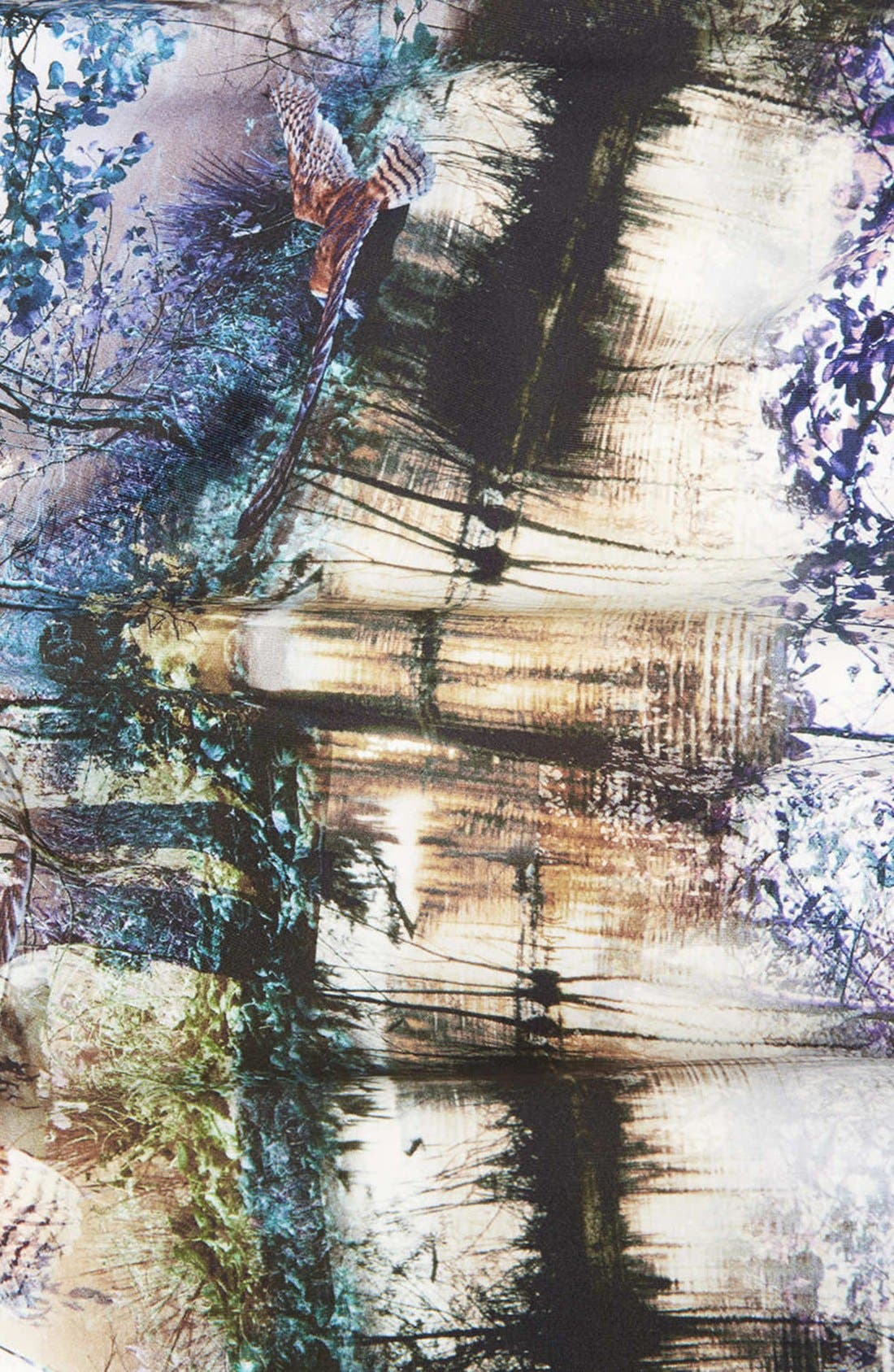 Alternate Image 4  - Topshop Photorealistic Print Midi Skirt
