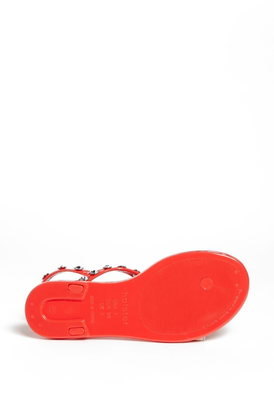 Alternate Image 4  - Holster Fashion 'Supermodel' Jelly Thong Sandal