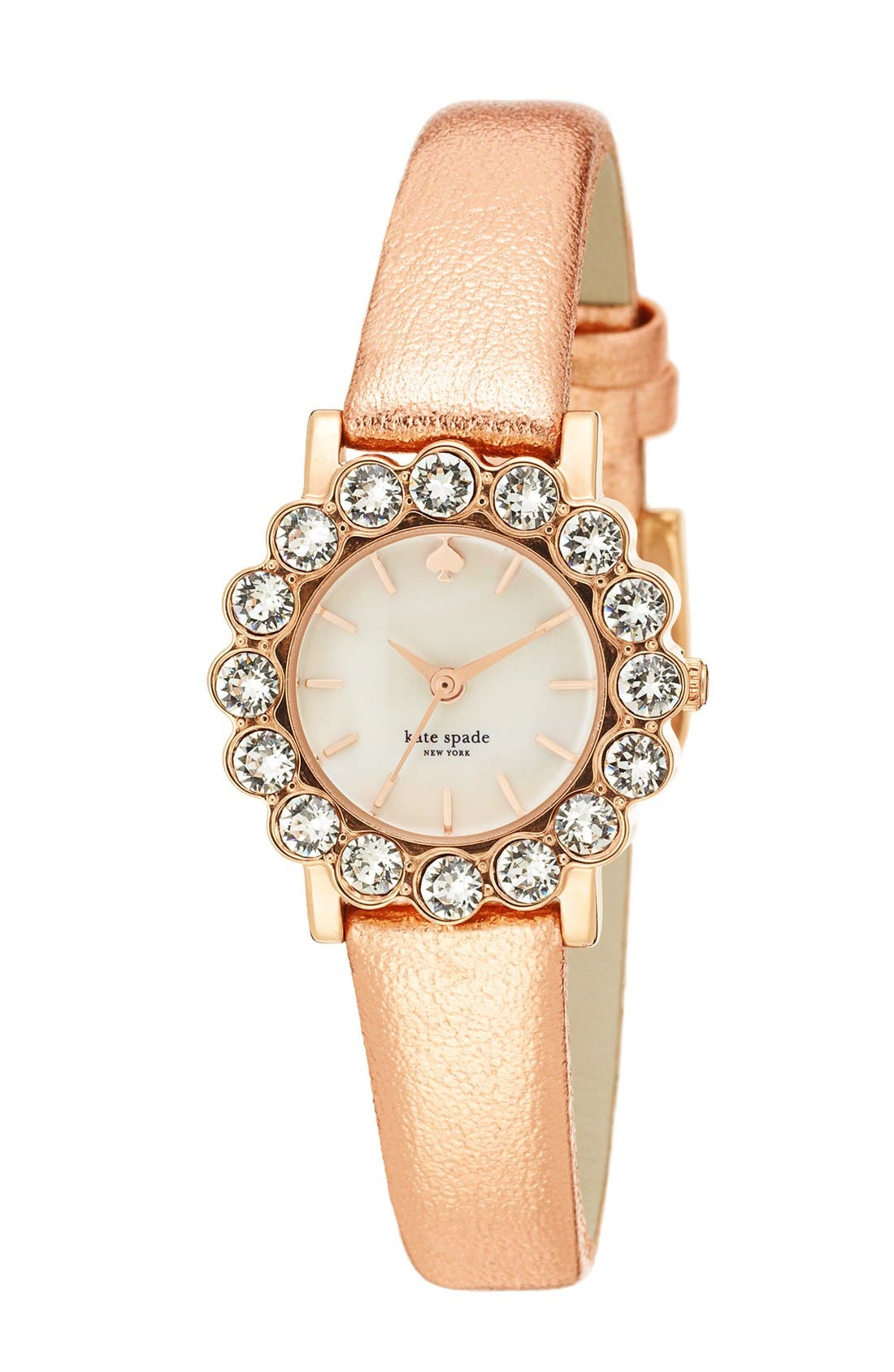Alternate Image 1 Selected - kate spade new york 'belvedere' crystal bezel watch, 24mm
