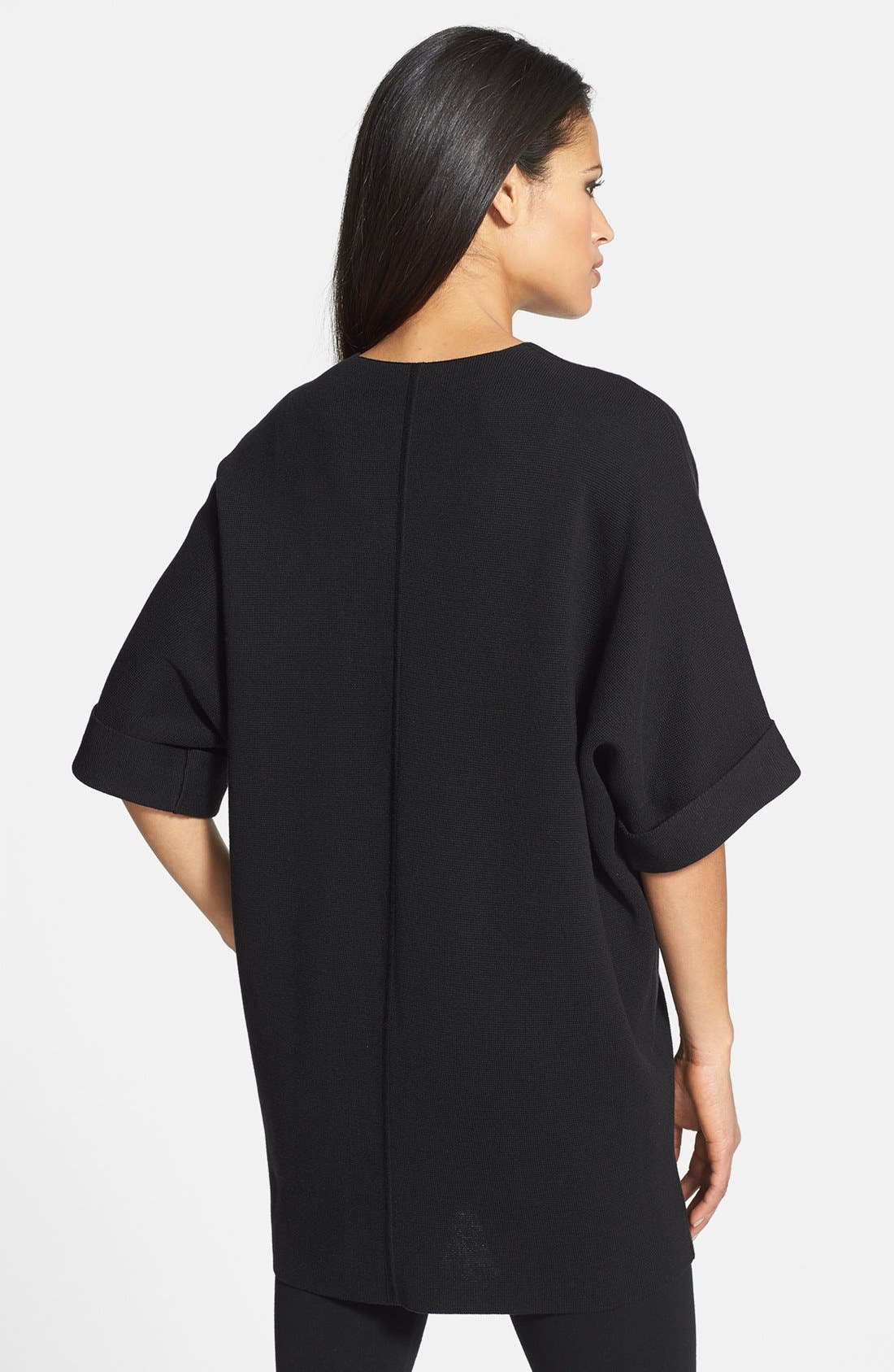 Alternate Image 2  - Eileen Fisher Elbow Sleeve Long Jacket
