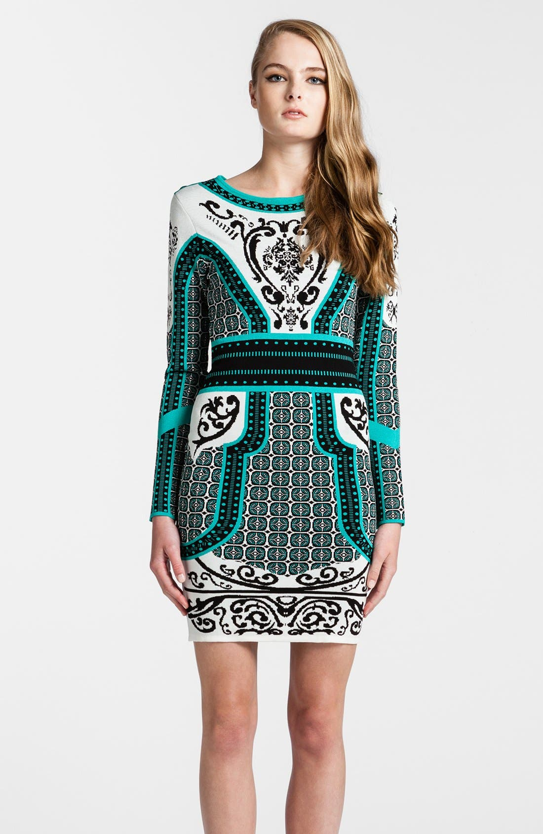Alternate Image 1 Selected - Cynthia Steffe Intarsia Sweater Dress