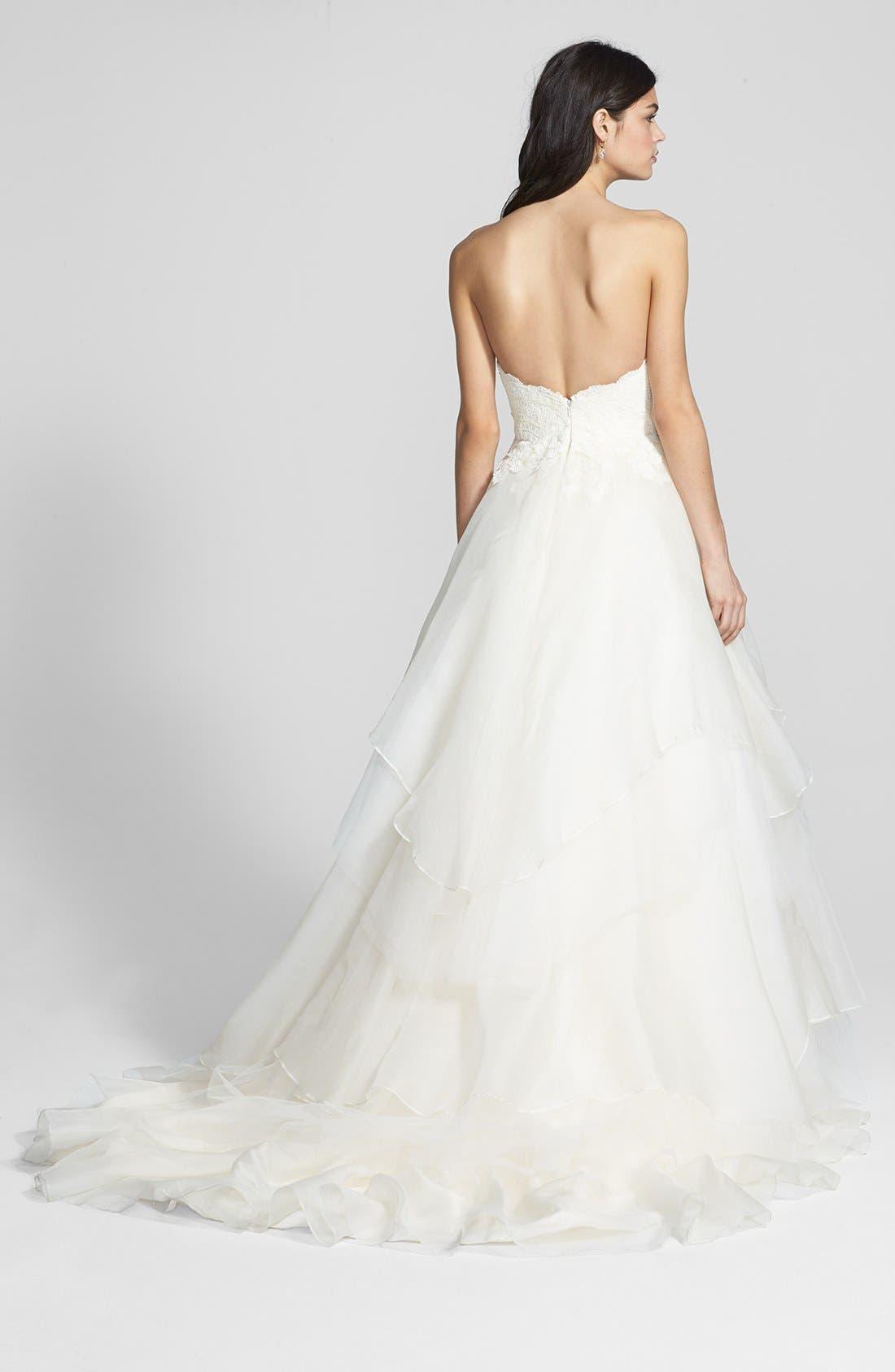 Alternate Image 2  - Hayley Paige 'Mila' Strapless Silk Organza Wedding Dress (In Stores Only)