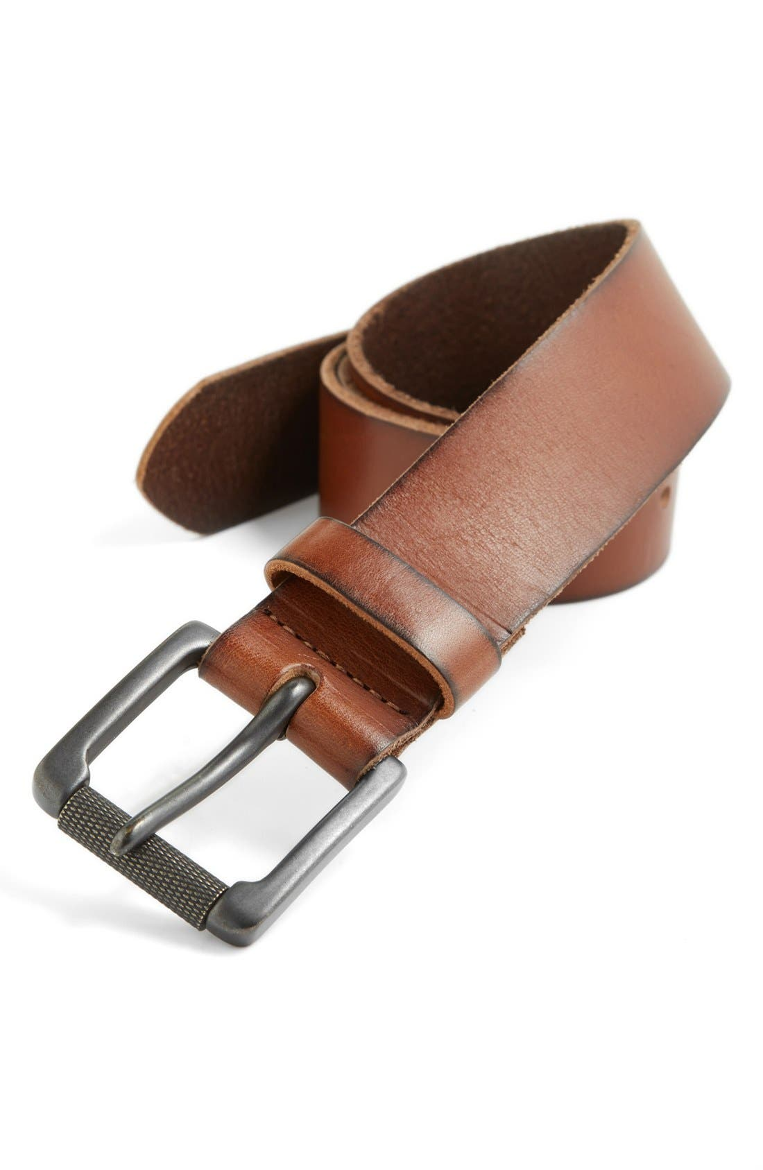 Alternate Image 1 Selected - The Rail Leather Belt