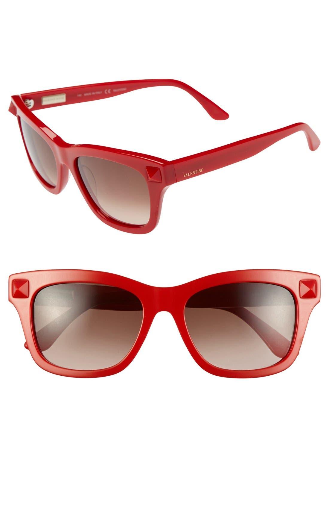 Main Image - Valentino 'Rockstud Rouge' 53mm Sunglasses