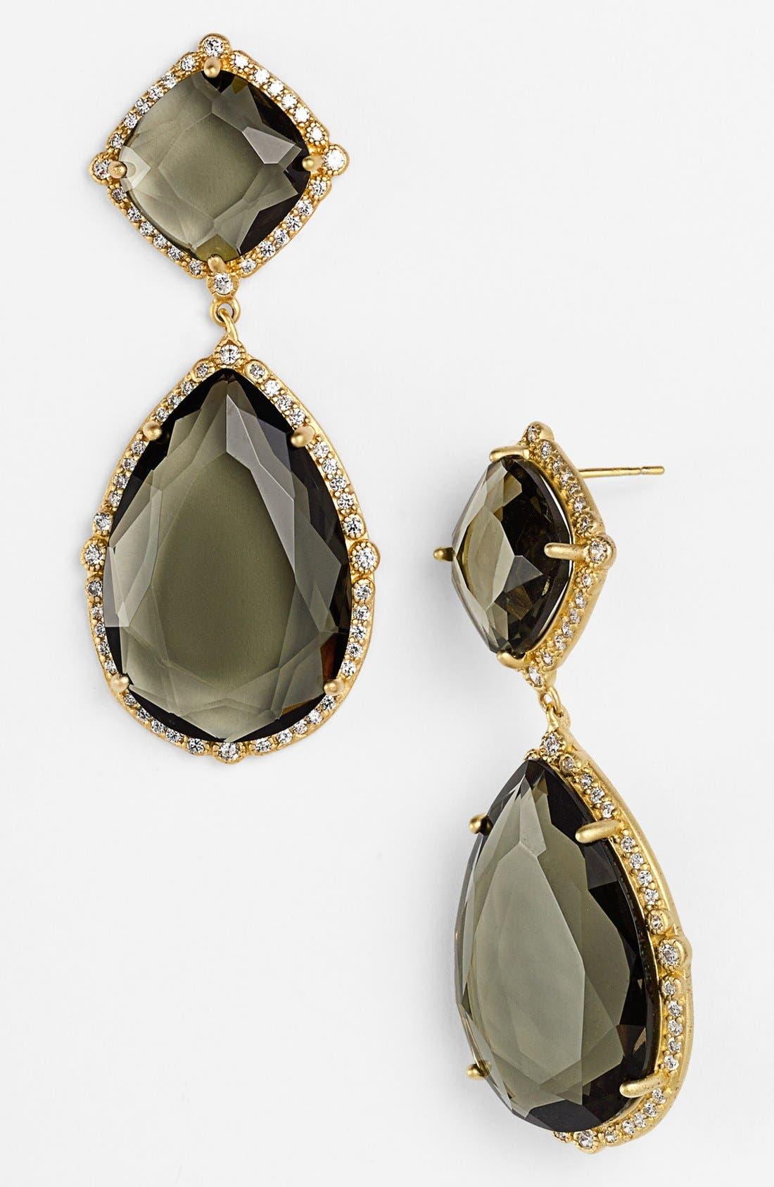 'Metropolitan' Stone Drop Earrings,                             Main thumbnail 1, color,                             Gold