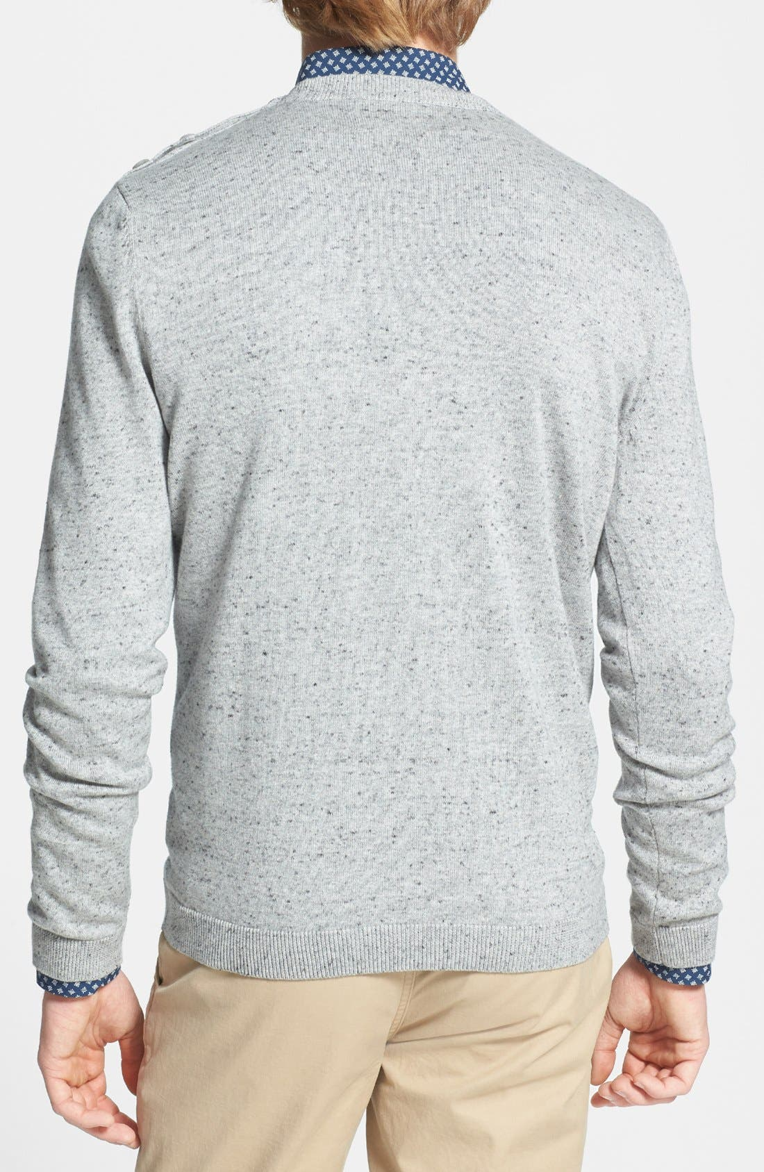 Alternate Image 2  - Topman Shoulder Placket Crewneck Sweater