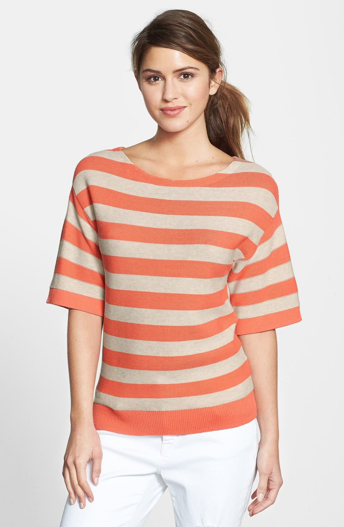 Alternate Image 1 Selected - Halogen® Stripe Boatneck Sweater