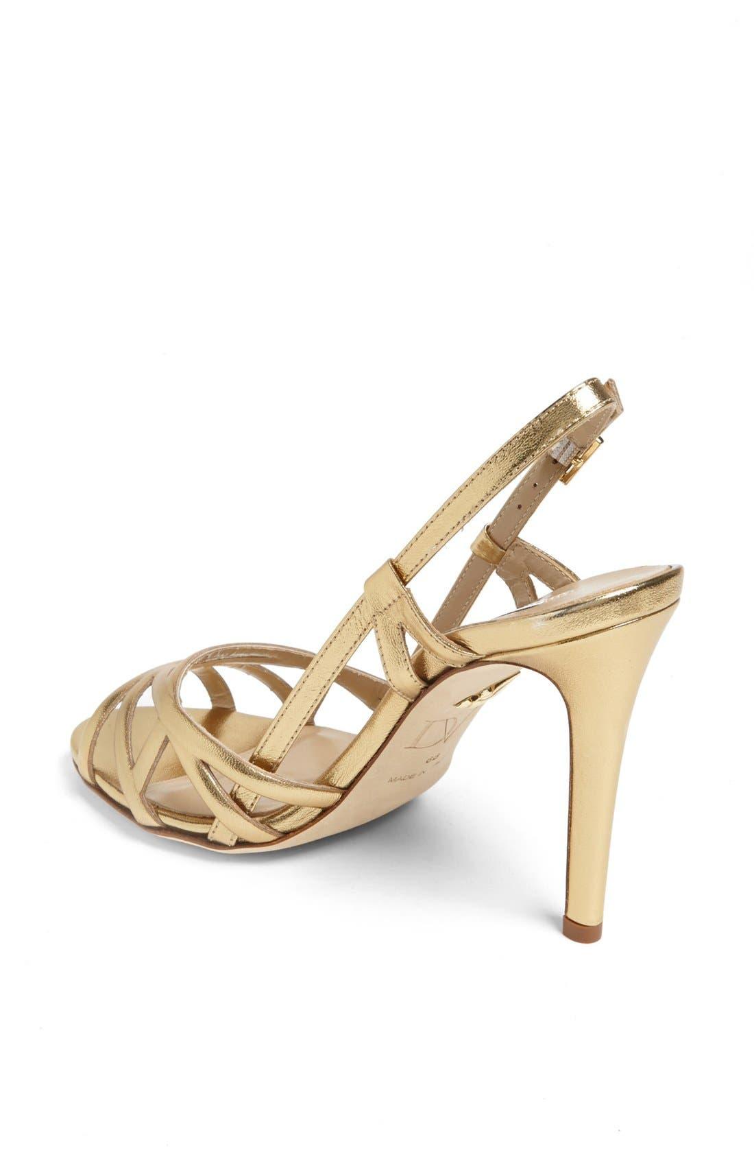 Alternate Image 2  - Diane von Furstenberg 'Upton' Metallic Leather Sandal