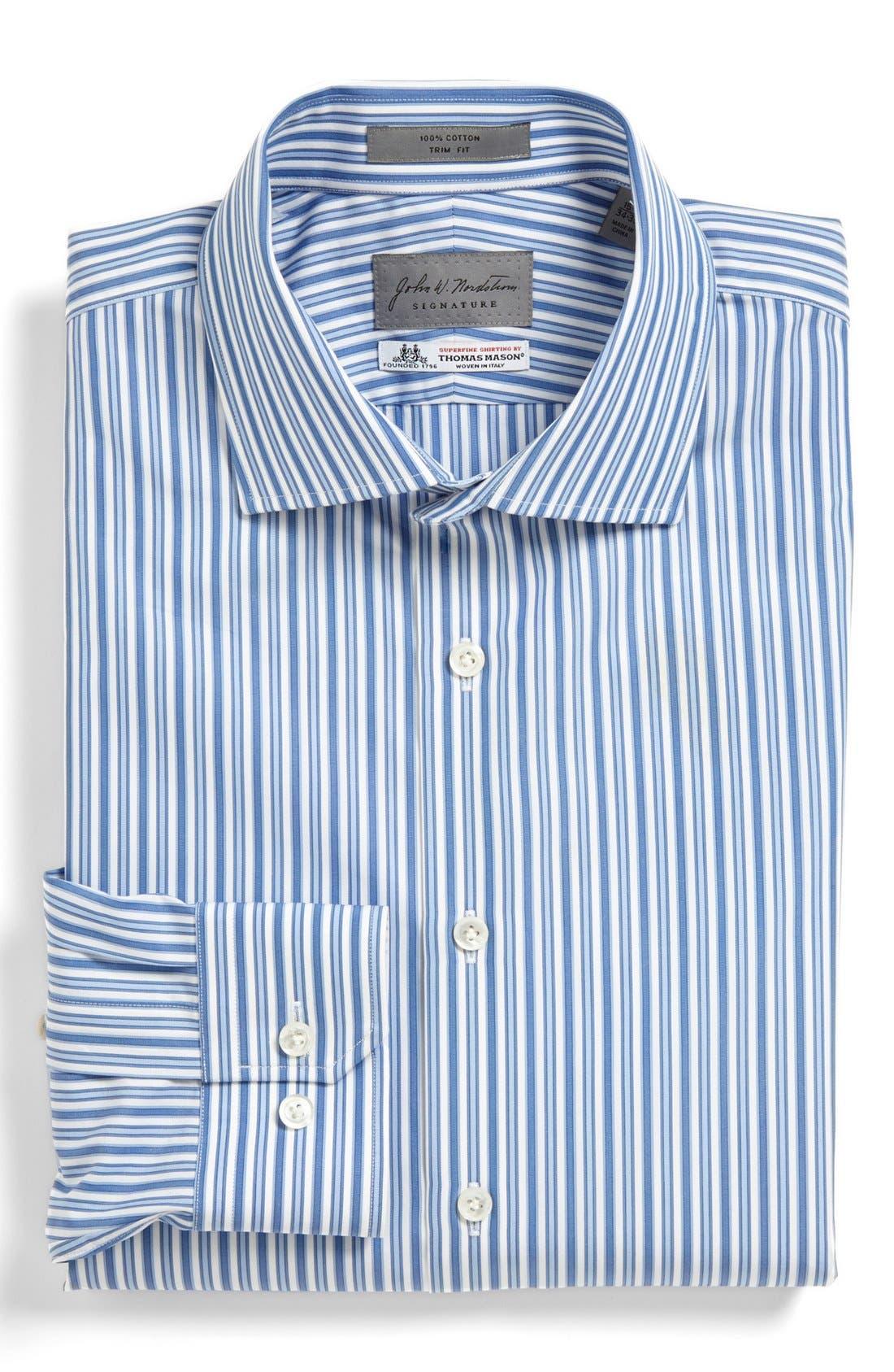 Main Image - John W. Nordstrom® Signature Trim Fit Stripe Dress Shirt