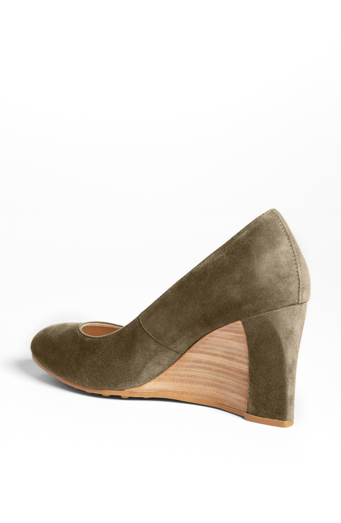 Alternate Image 2  - Tod's Suede Wedge Pump