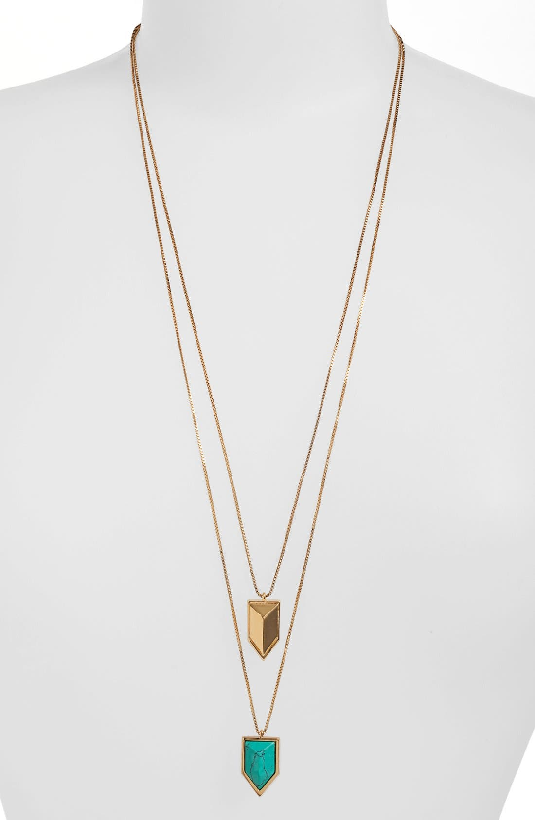 Main Image - Vince Camuto 'Clearview' Double Pendant Necklace (Nordstrom Exclusive)