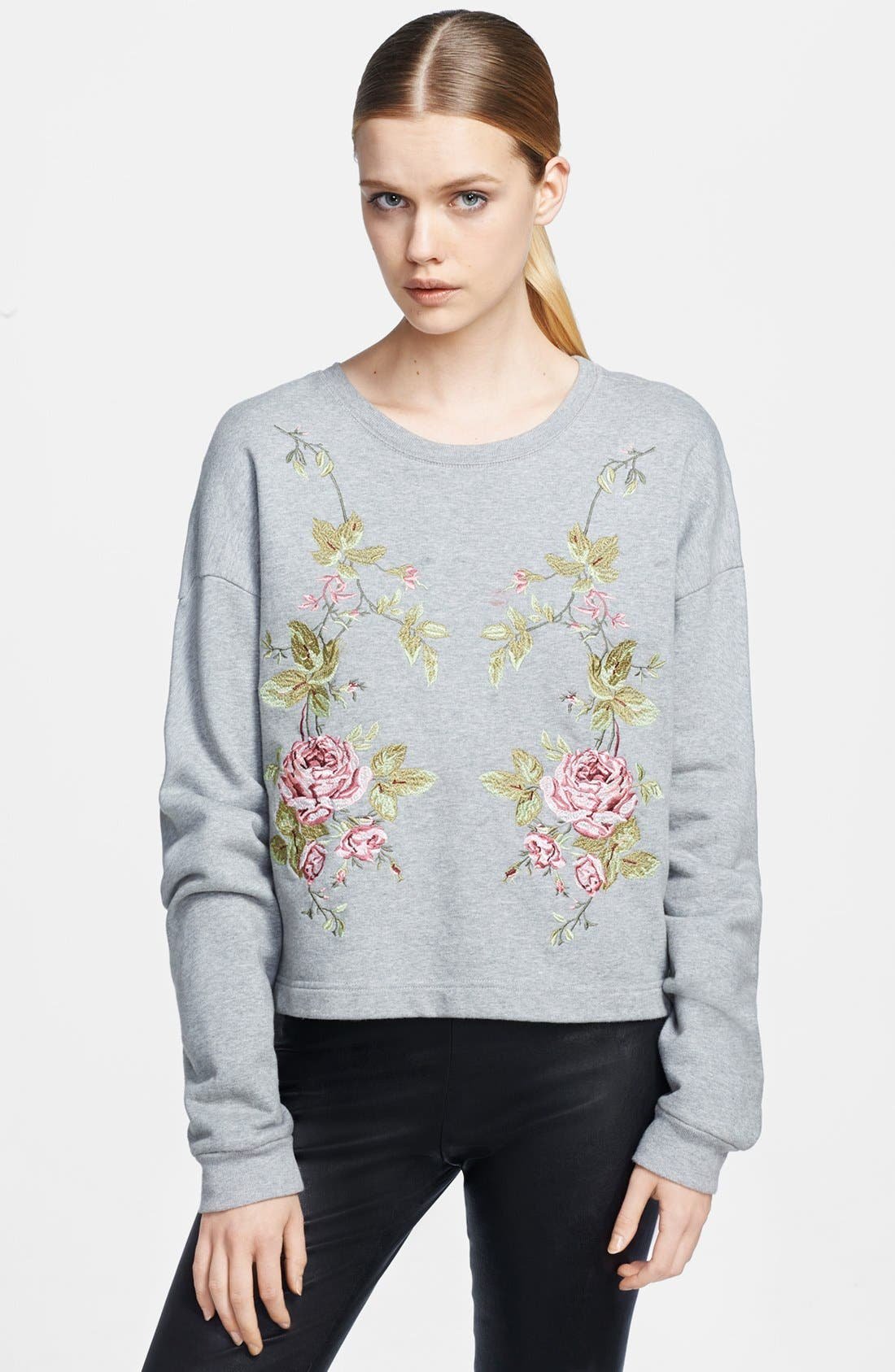 Alternate Image 1 Selected - McQ by Alexander McQueen Embroidered Sweatshirt