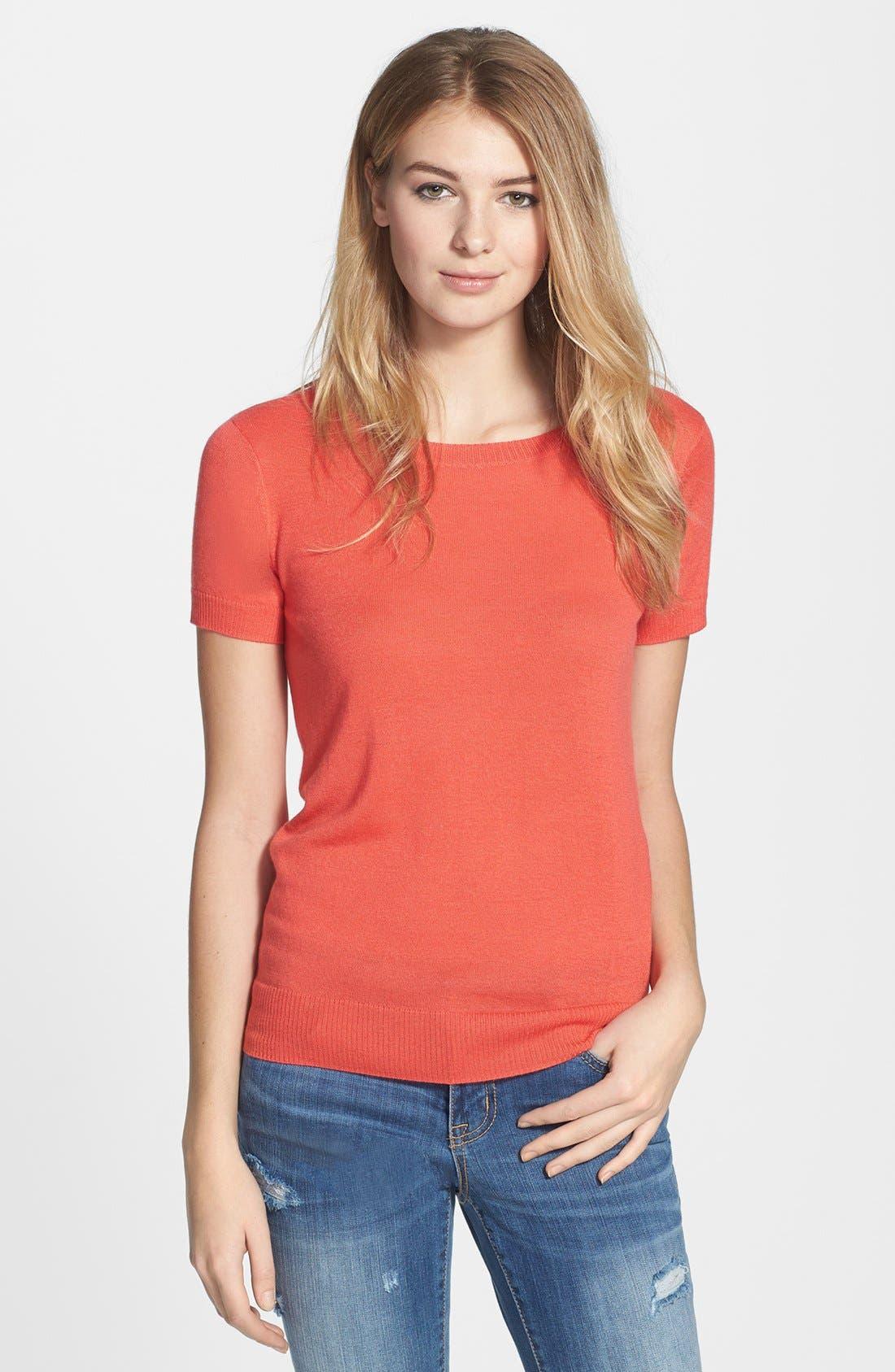 Alternate Image 1 Selected - Halogen® Fine Weight Cashmere Sweater (Regular & Petite)