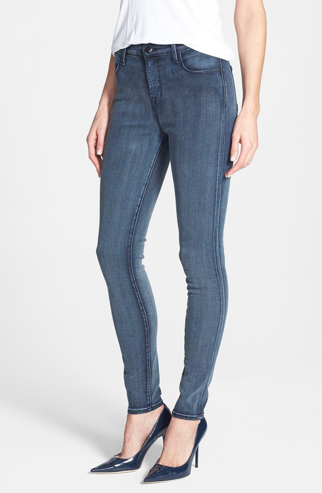 2311 Maria High Waist Super Skinny Jeans,                             Main thumbnail 1, color,                             Mystic