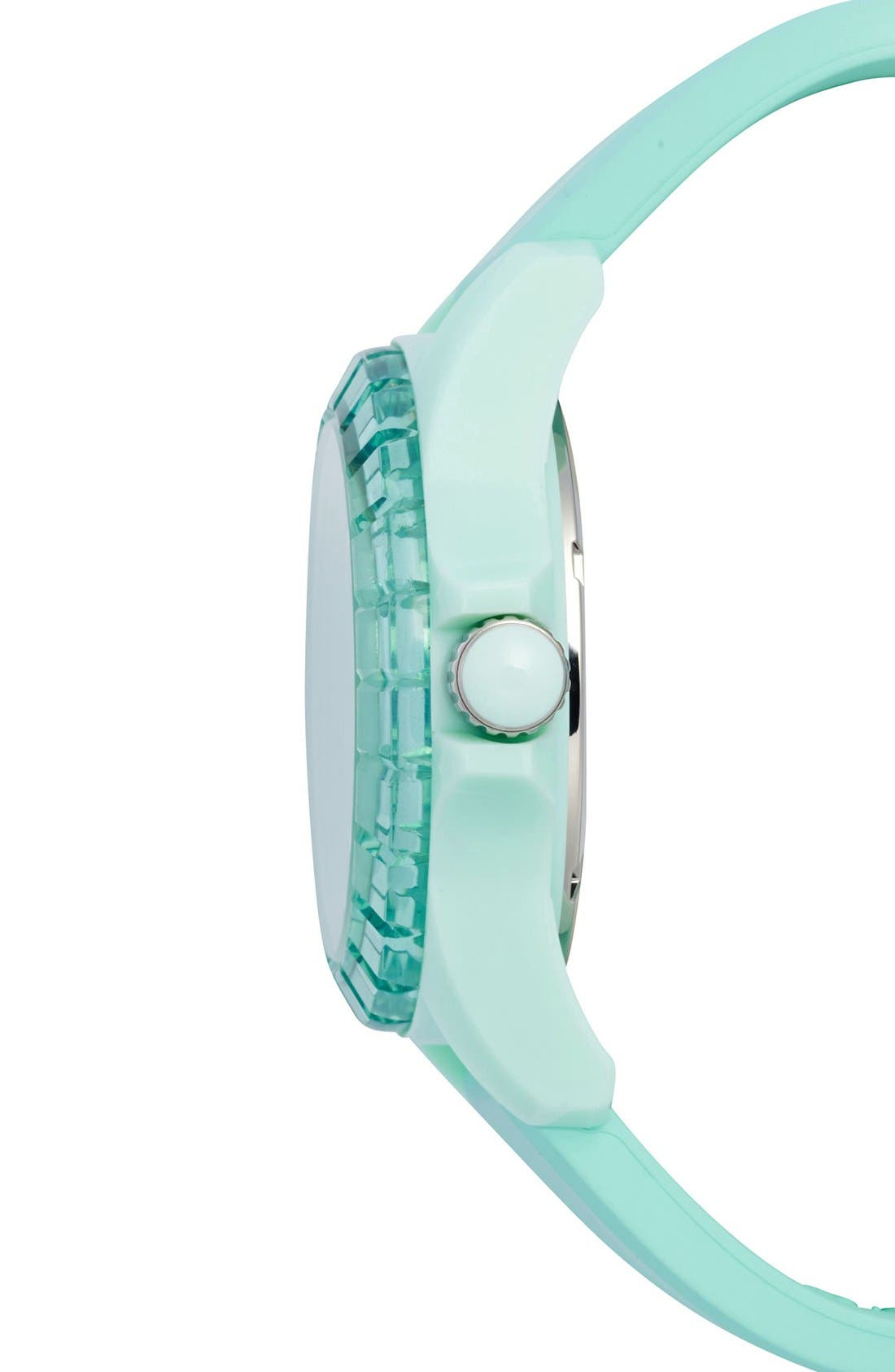 Alternate Image 3  - Juicy Couture 'Sport' Crystal Bezel Silicone Strap Watch, 40mm