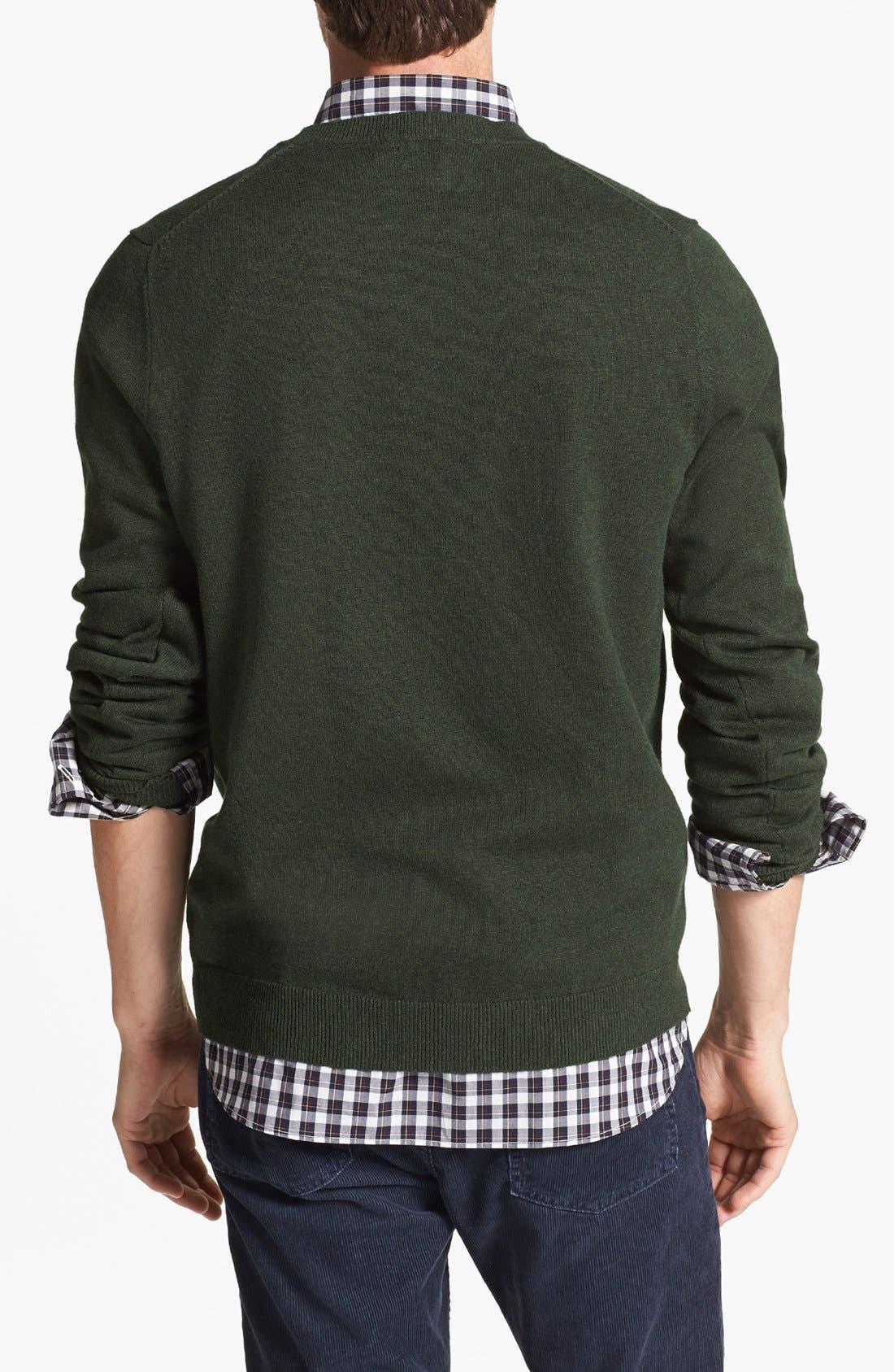 Alternate Image 2  - Wallin & Bros. Trim Fit Cotton & Cashmere Crewneck Sweater