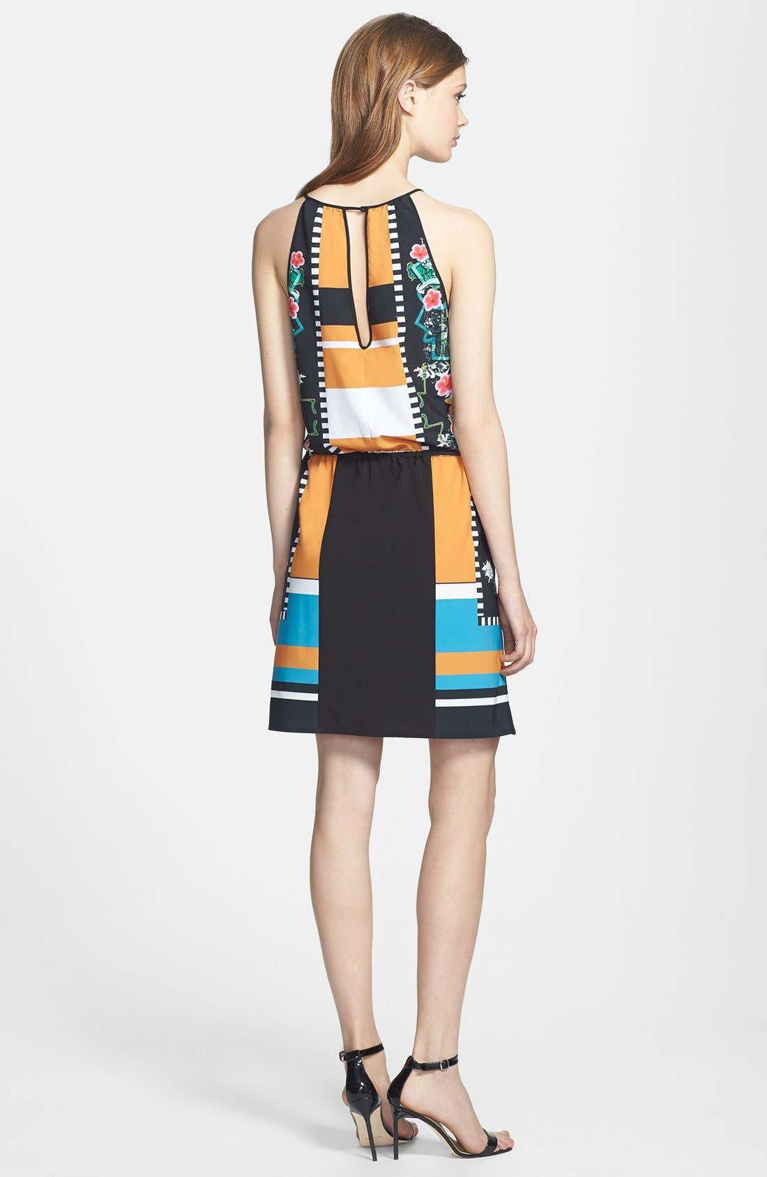 Alternate Image 2  - Clover Canyon 'Cuba Scarf' Print Stretch Blouson Dress