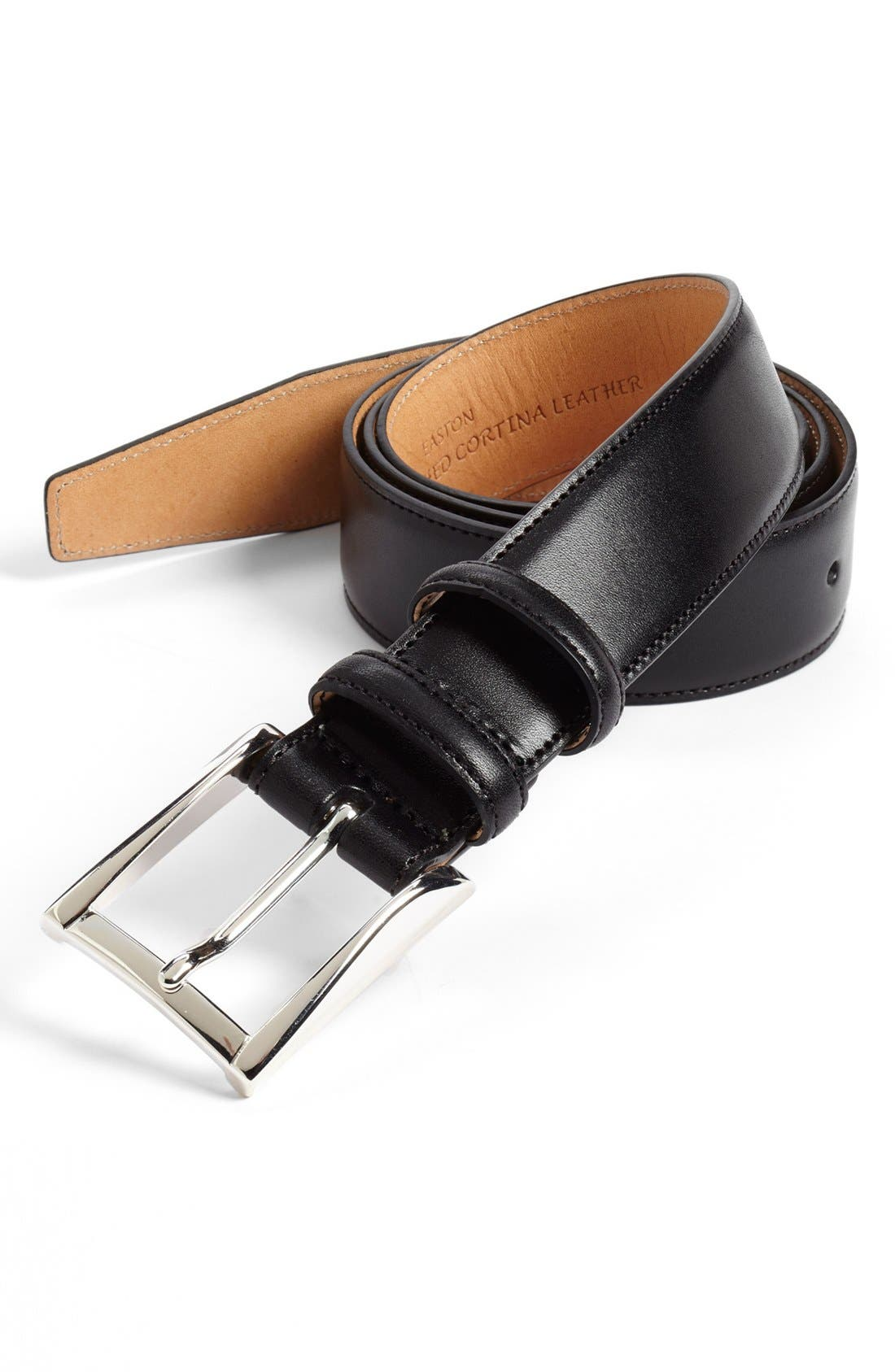 Alternate Image 1 Selected - Trafalgar 'Easton' Calfskin Belt