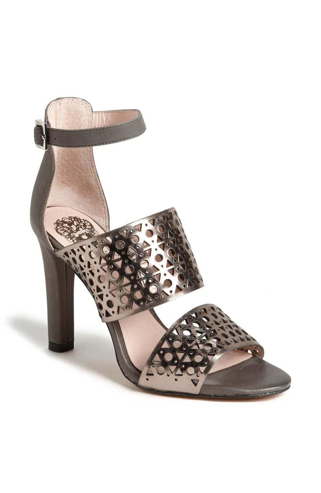 Alternate Image 1 Selected - Vince Camuto 'Okeli' Perforated Ankle Strap Sandal