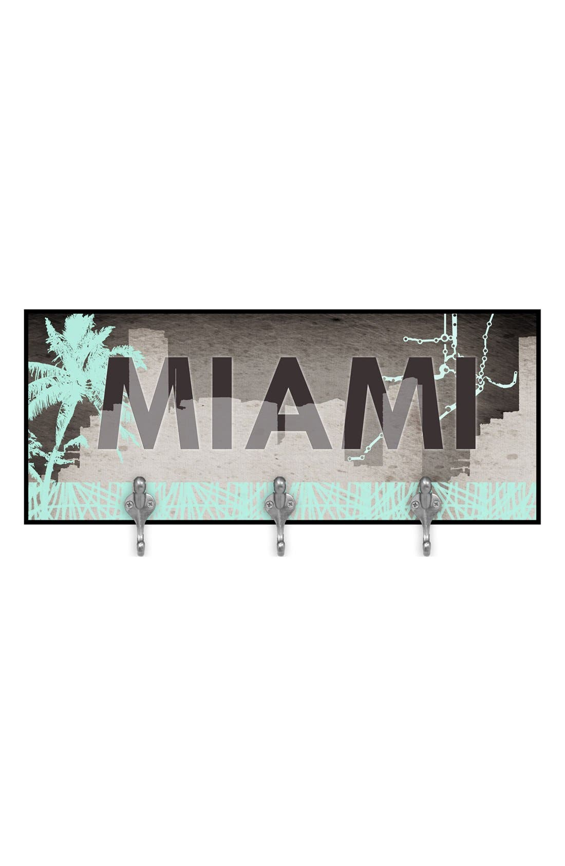 Alternate Image 1 Selected - Green Leaf Art 'Miami' Multi Hook Wall Mount Rack
