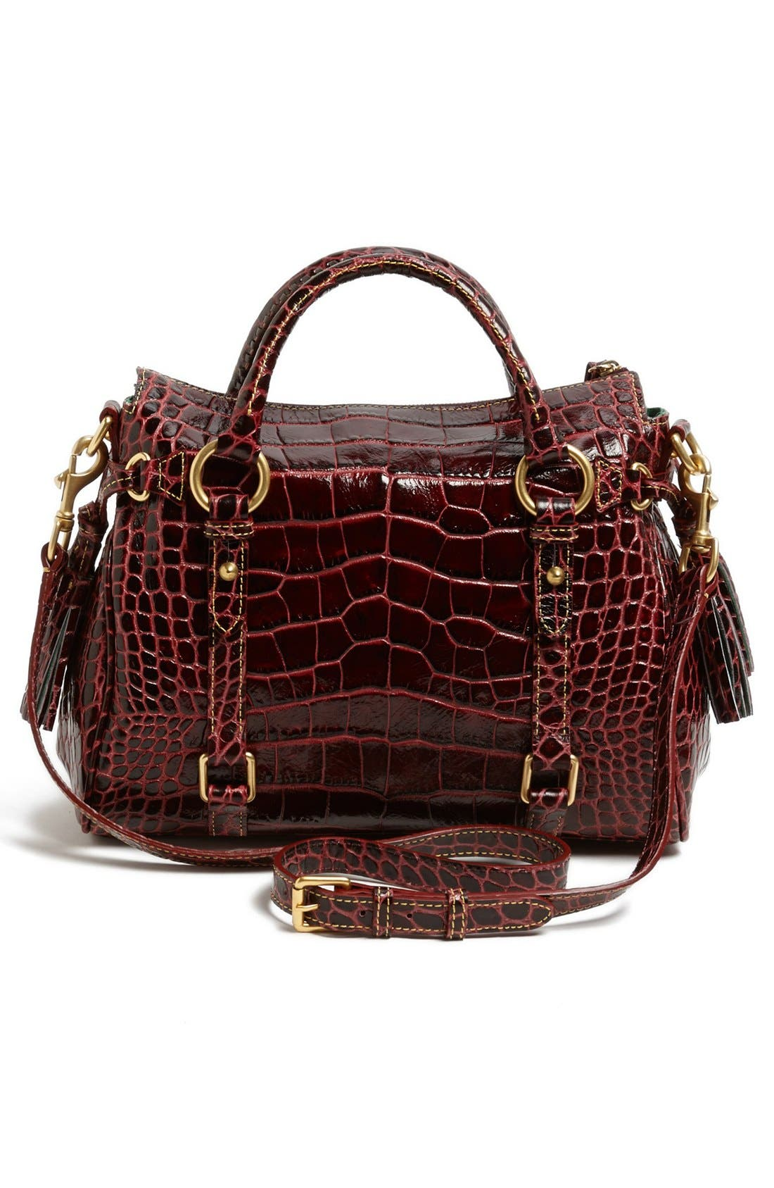 Alternate Image 4  - Dooney & Bourke 'Small' Croc-Embossed Leather Satchel