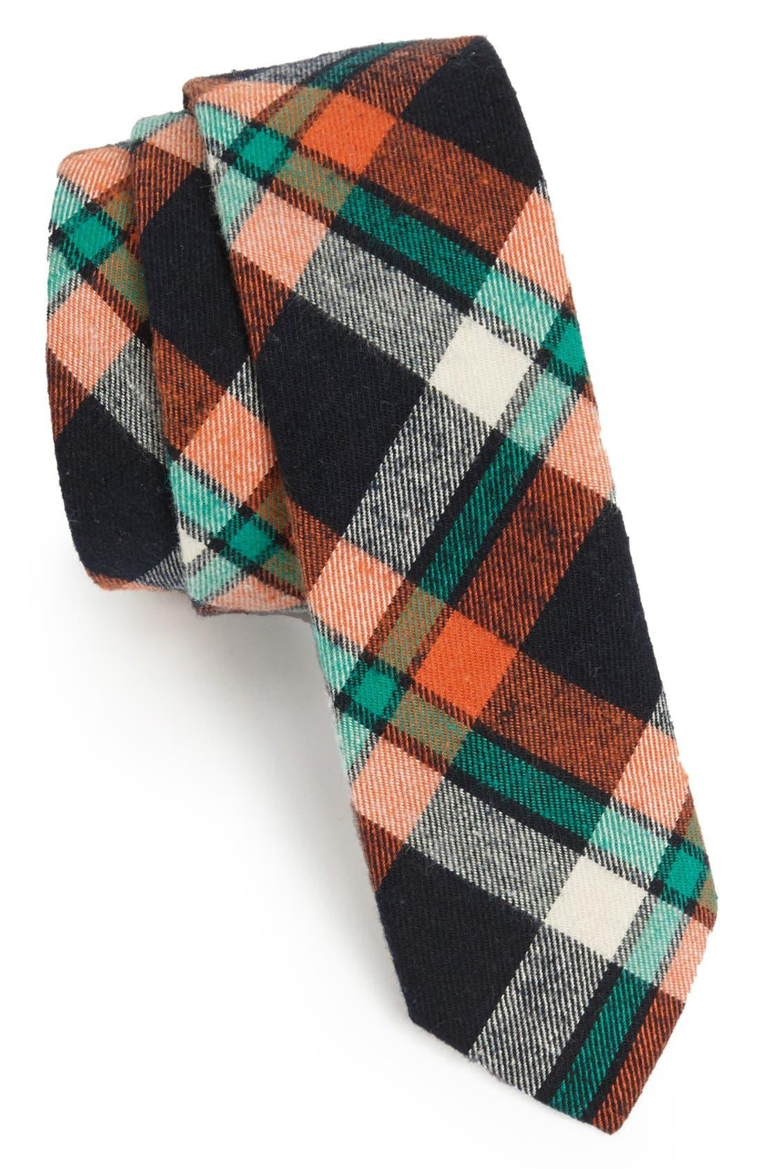 Main Image - Original Penguin 'Duncan Plaid' Woven Cotton Tie