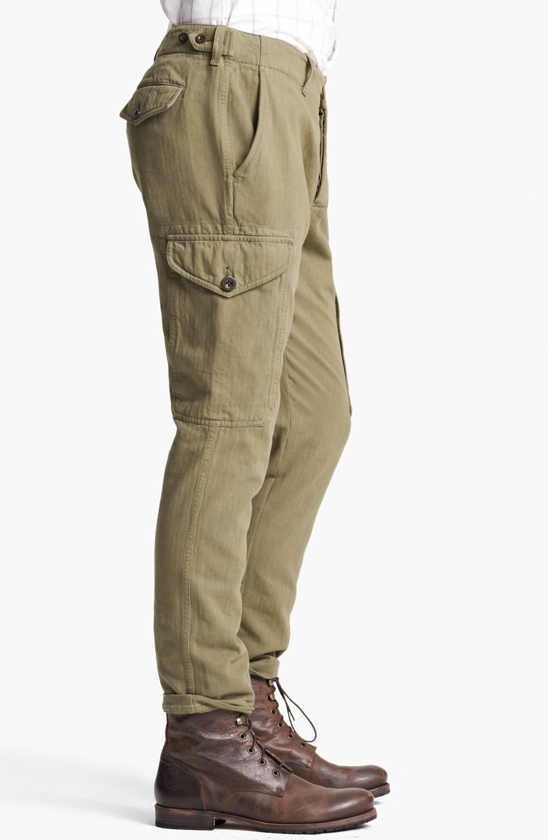 Alternate Image 3  - Todd Snyder 'Infantry' Herringbone Cargo Pants