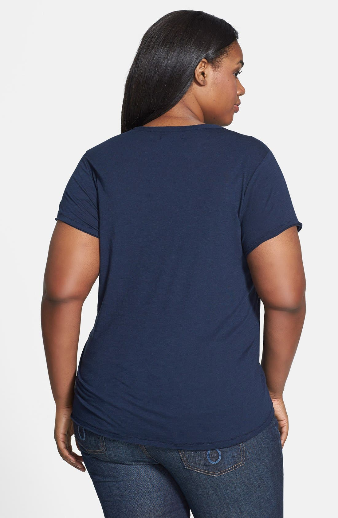 Alternate Image 2  - Lucky Brand Floral Tiger Tee (Plus Size)