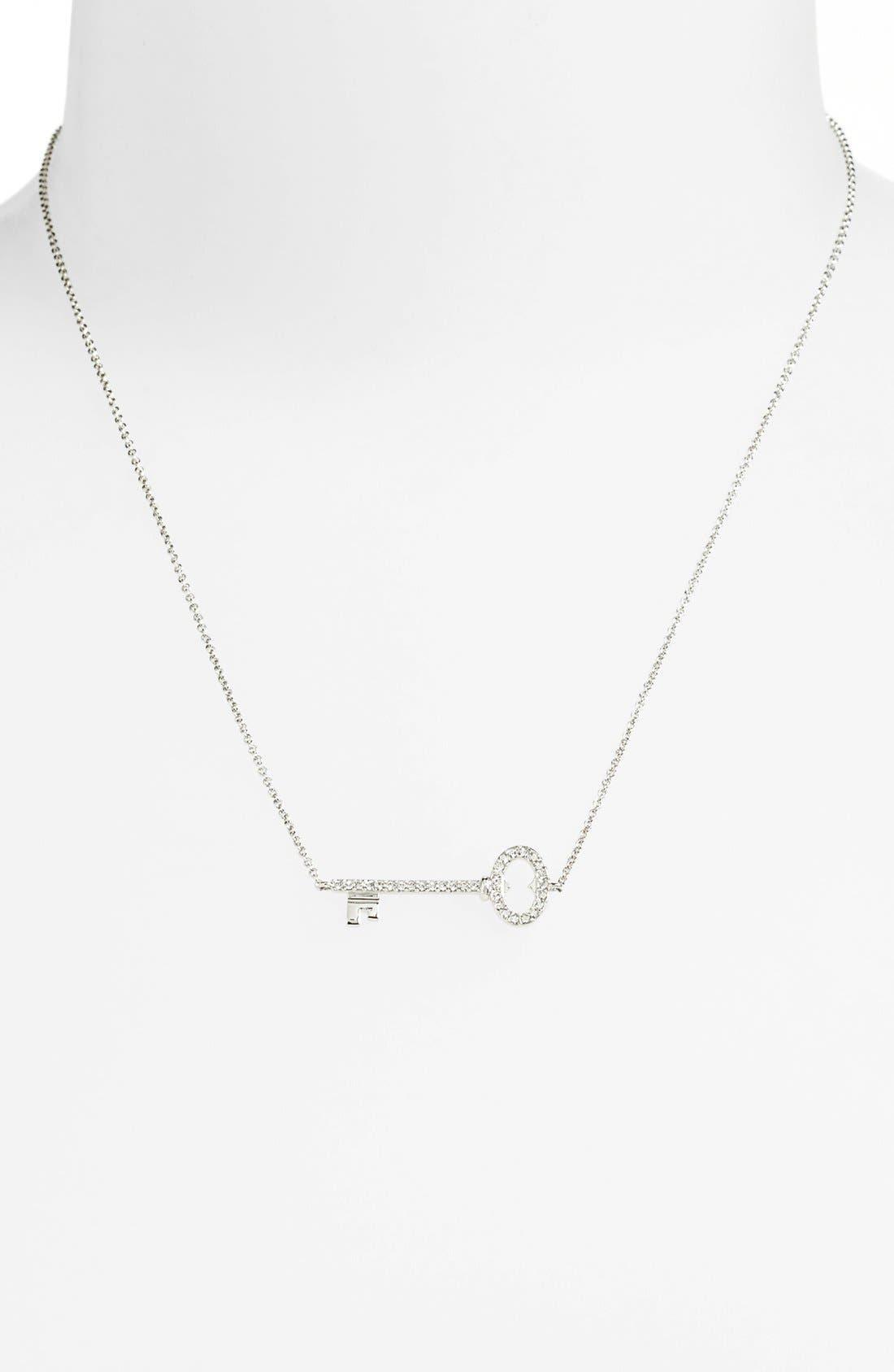 Alternate Image 2  - Nadri Boxed Pavé Key Pendant Necklace