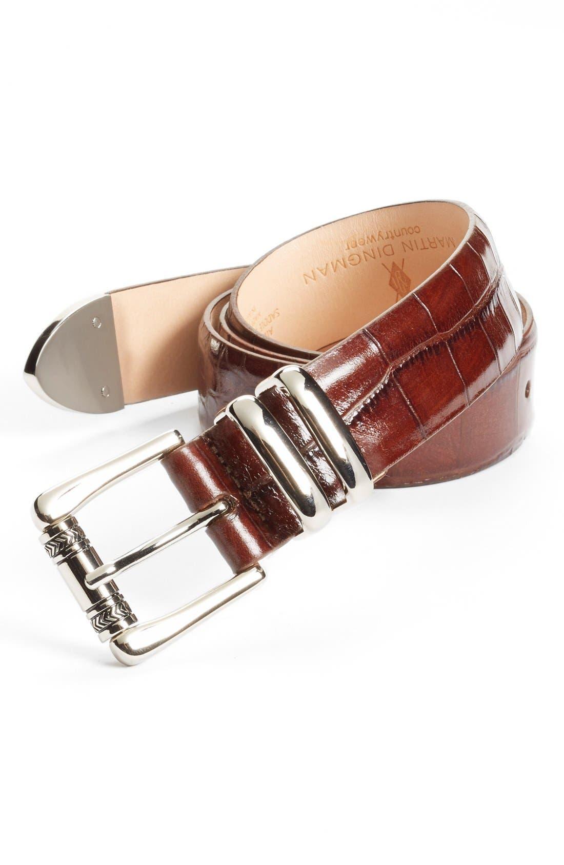 Alternate Image 1 Selected - Martin Dingman Embossed Leather Belt