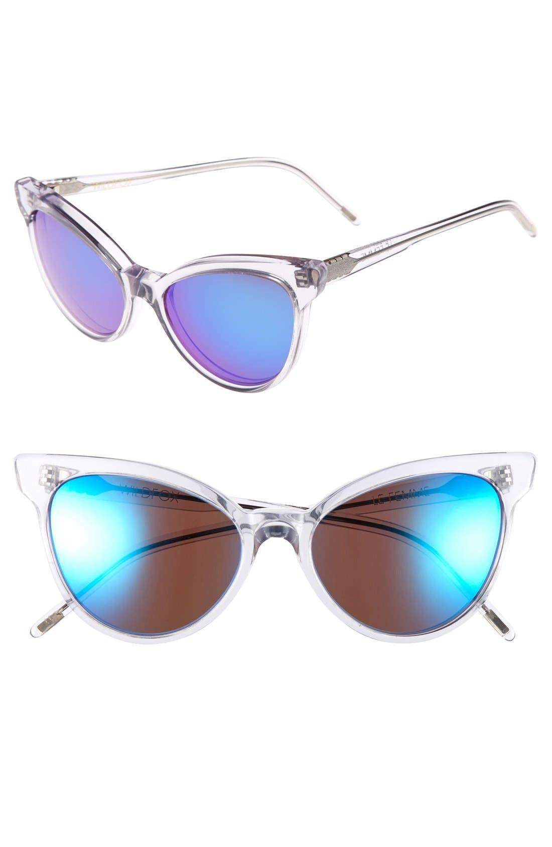 'La Femme Deluxe' 55mm Sunglasses,                         Main,                         color, Crystal
