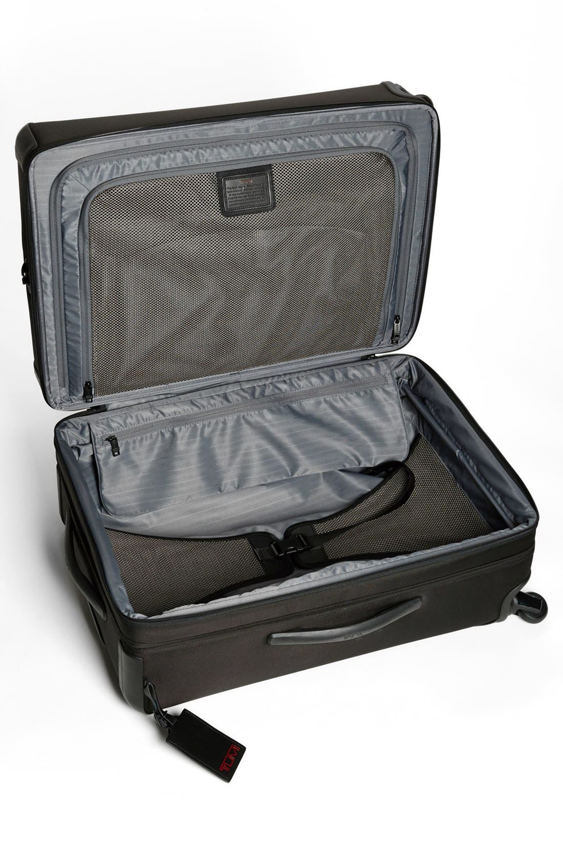 Alpha 2 Short Trip 26-Inch Rolling Four Wheel Packing Case,                             Alternate thumbnail 2, color,                             Black
