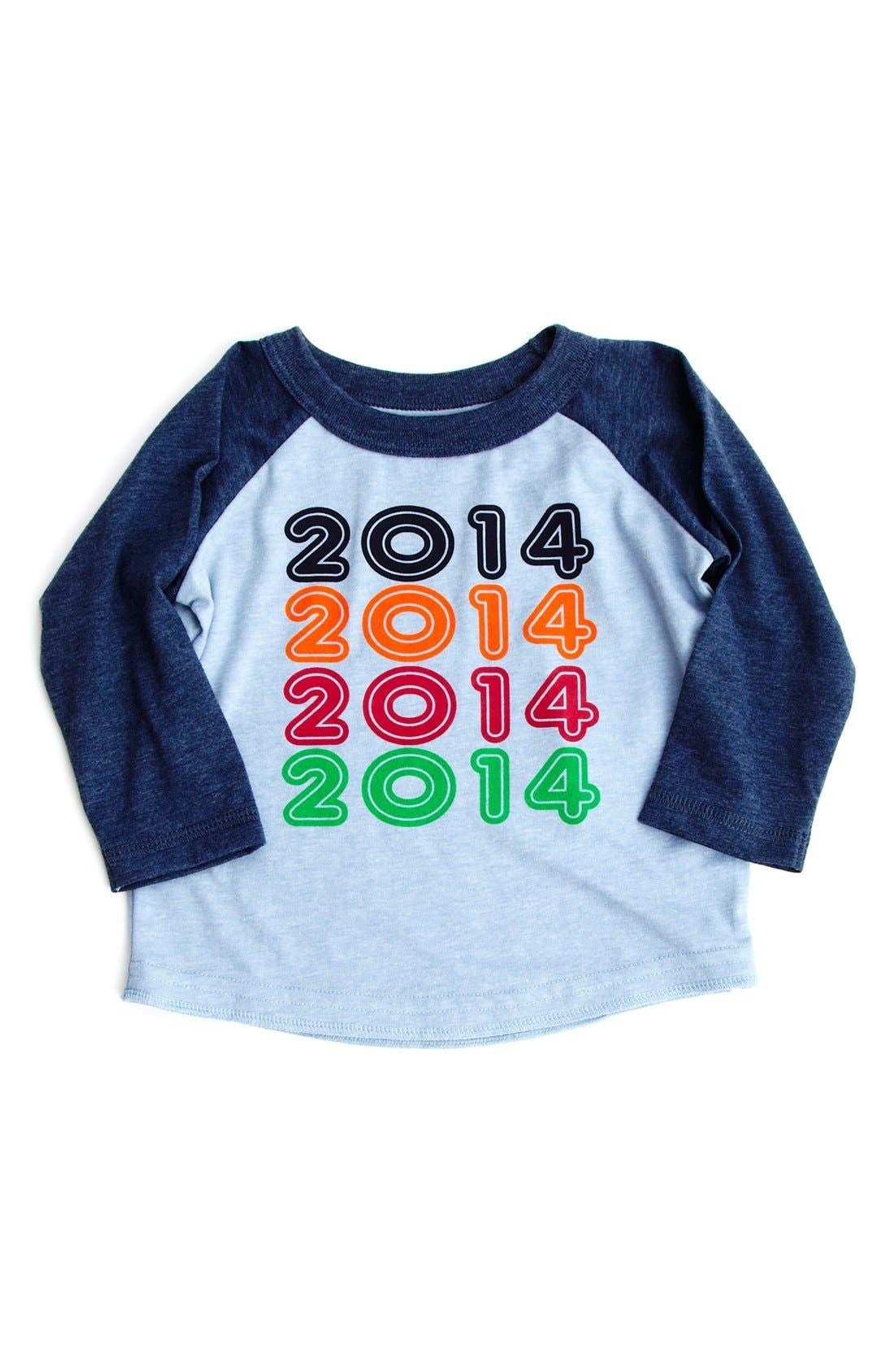 Alternate Image 1 Selected - Peek '2014' Baseball T-Shirt (Baby Boys)