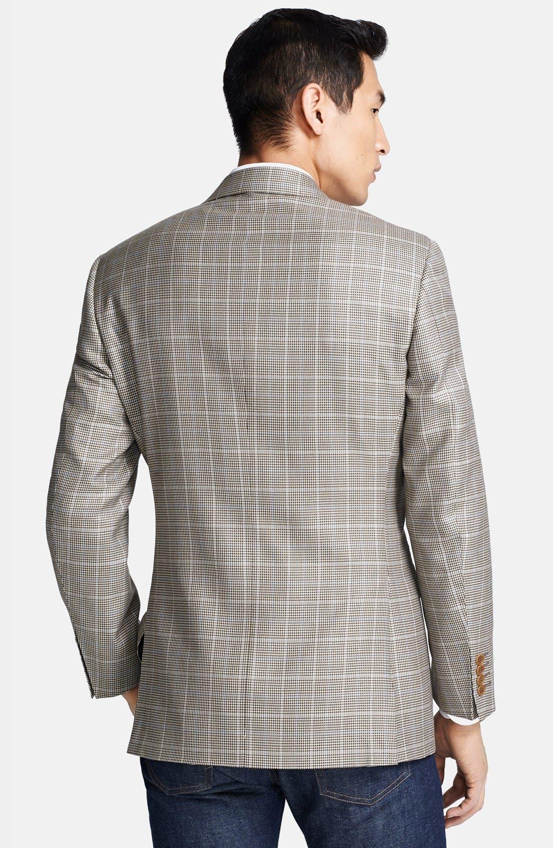 Alternate Image 2  - Canali Classic Fit Silk Blend Plaid Sportcoat