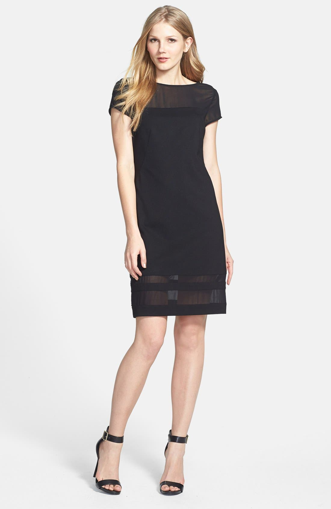 Alternate Image 1 Selected - Vince Camuto Chiffon Inset Dress