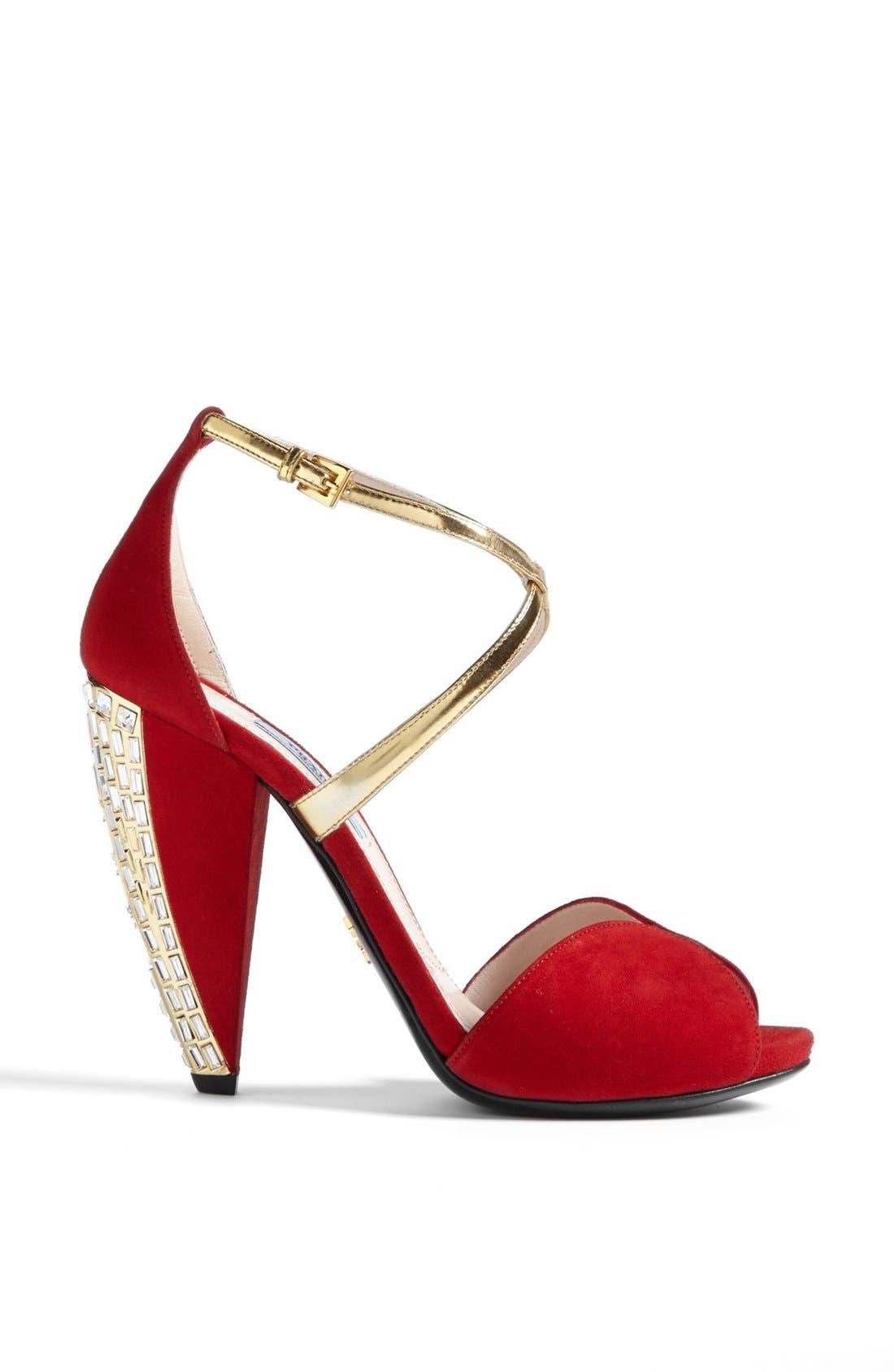 Alternate Image 4  - Prada Crystal Heel Sandal