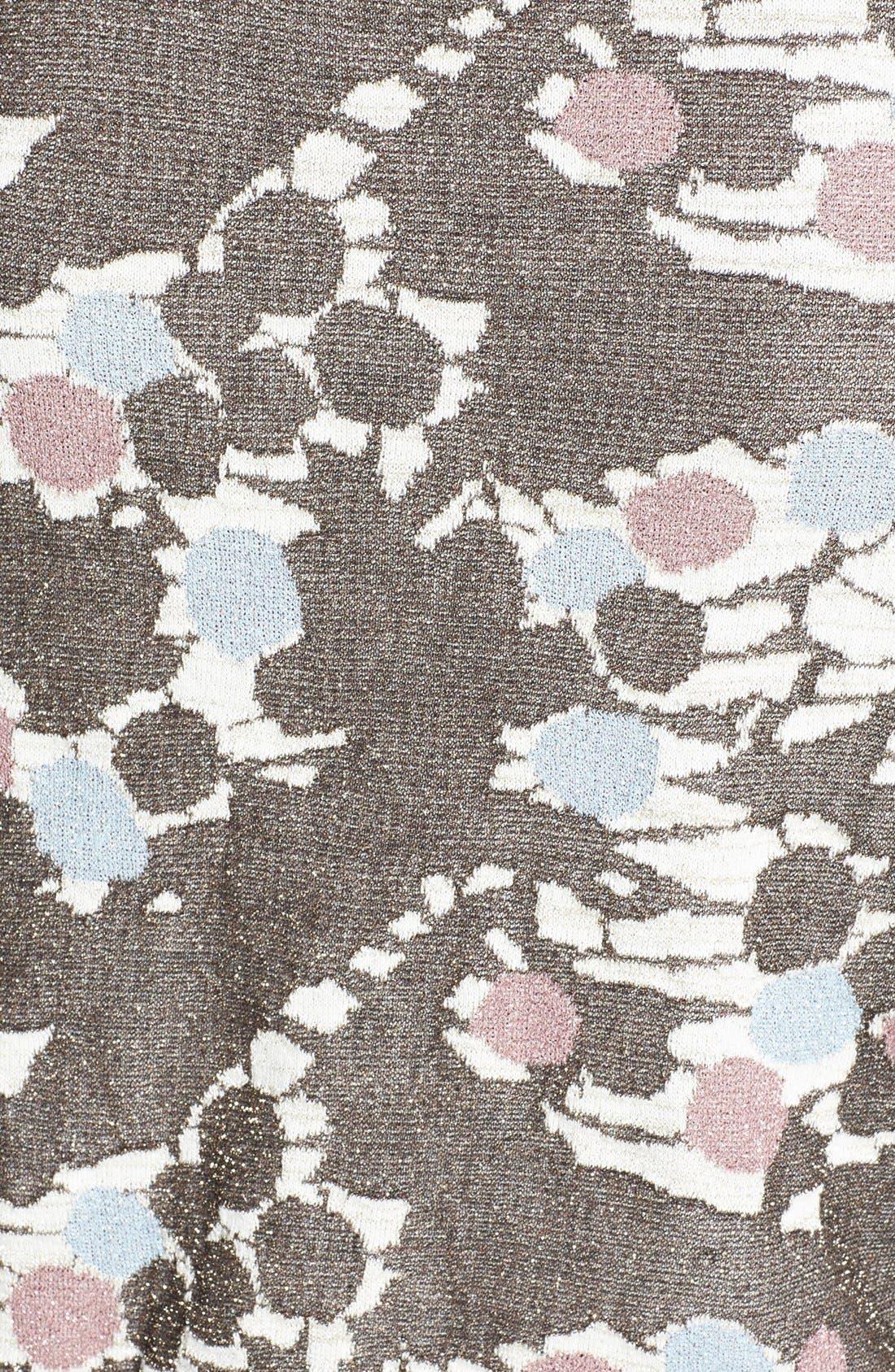 Alternate Image 3  - Topshop 'Chateau Bronze' Metallic Print Sweater