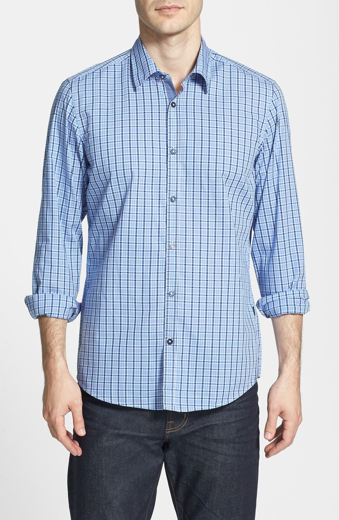Alternate Image 1 Selected - BOSS HUGO BOSS 'Obert' Plaid Sport Shirt