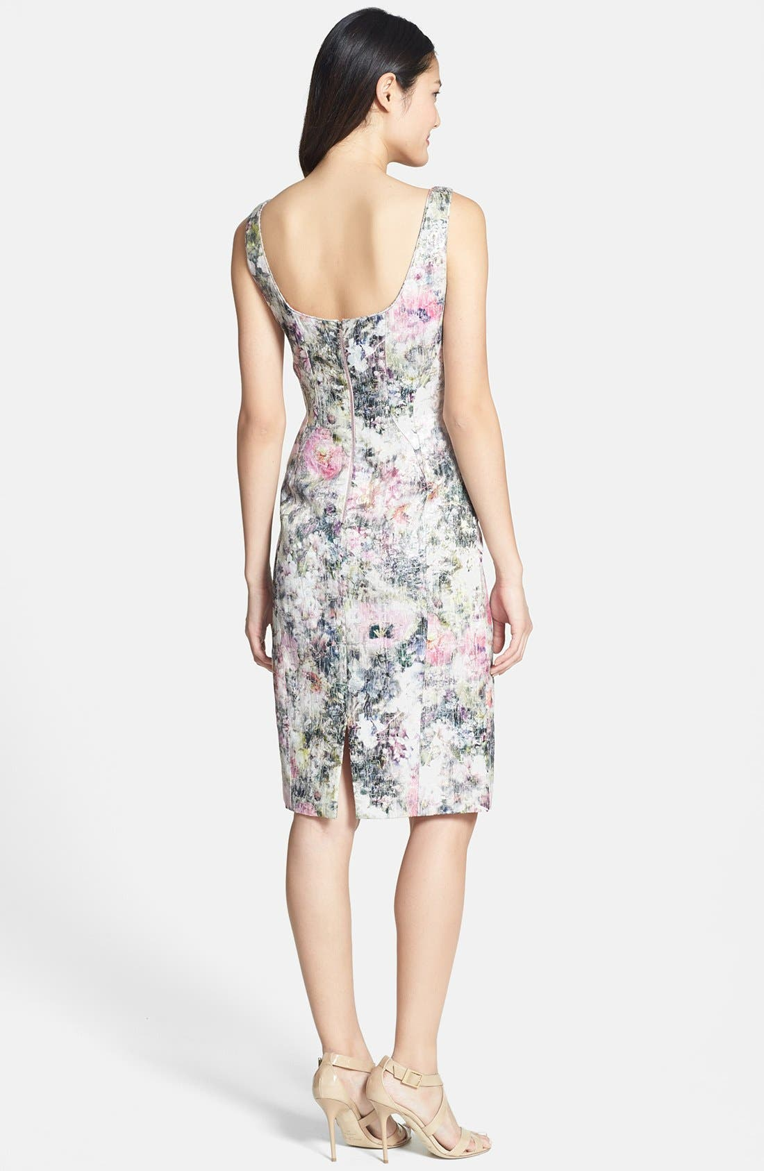 Alternate Image 2  - Maggy London Print Brocade Sheath Dress