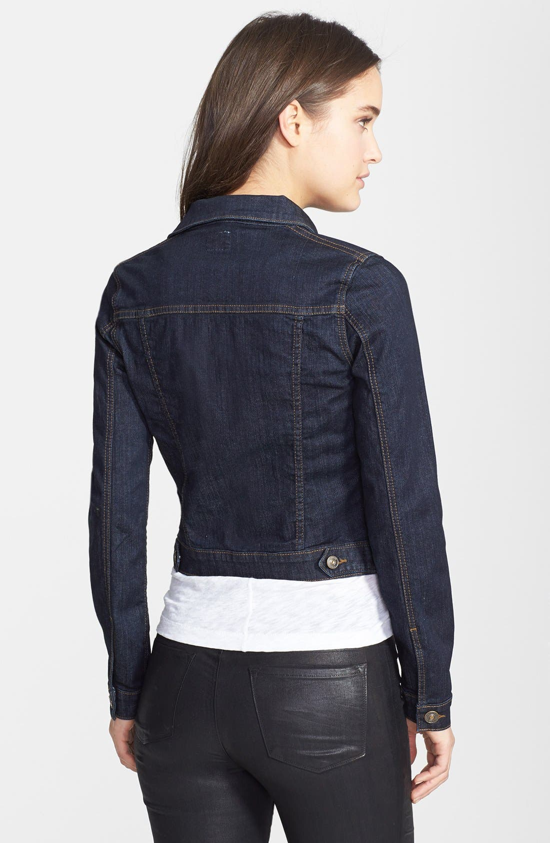 Alternate Image 2  - Hudson Jeans Stretch Denim Jacket (Rinse)